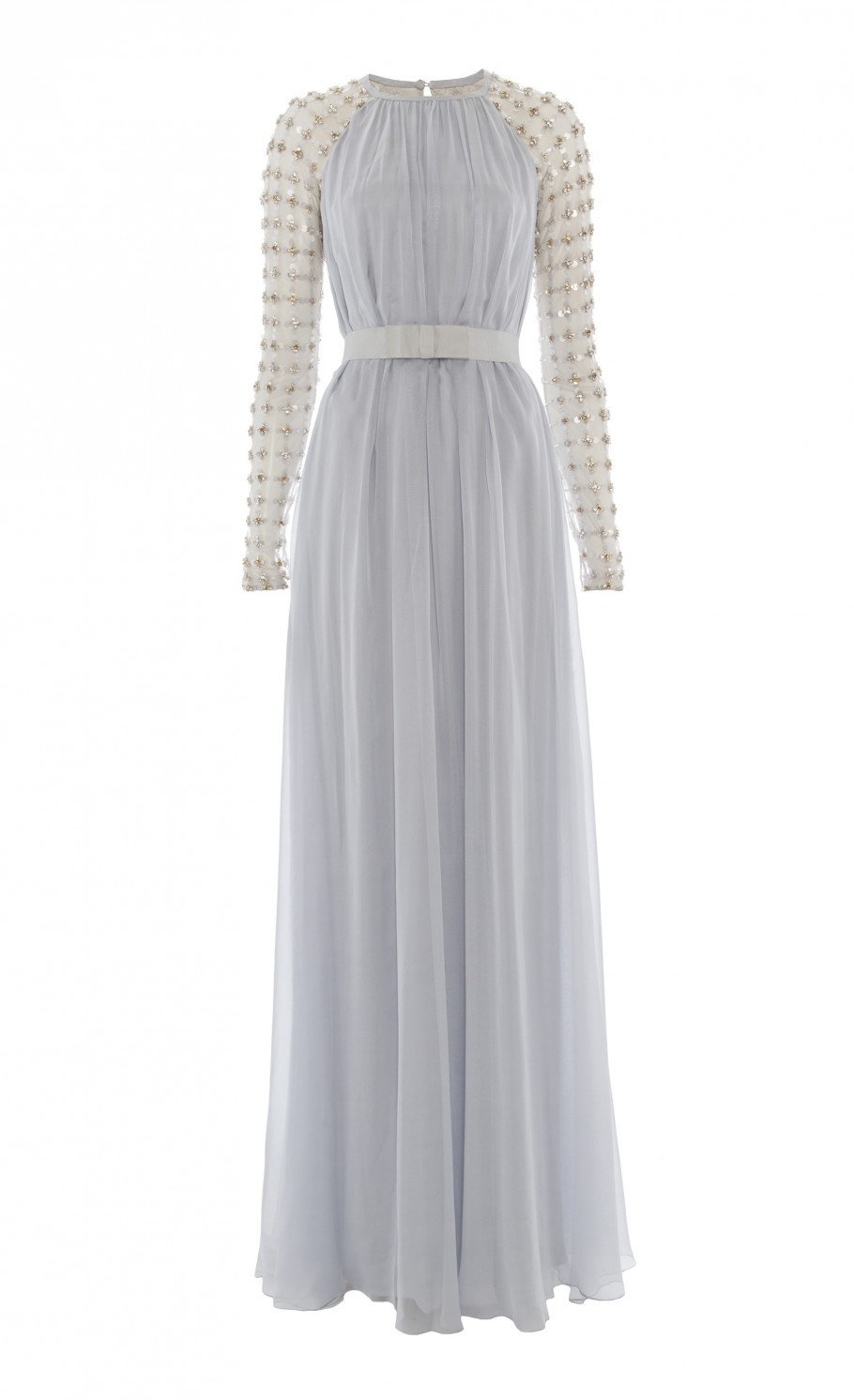 7c9d21159bfd Lyst - Temperley London Long Angeli Lattice Dress in Gray