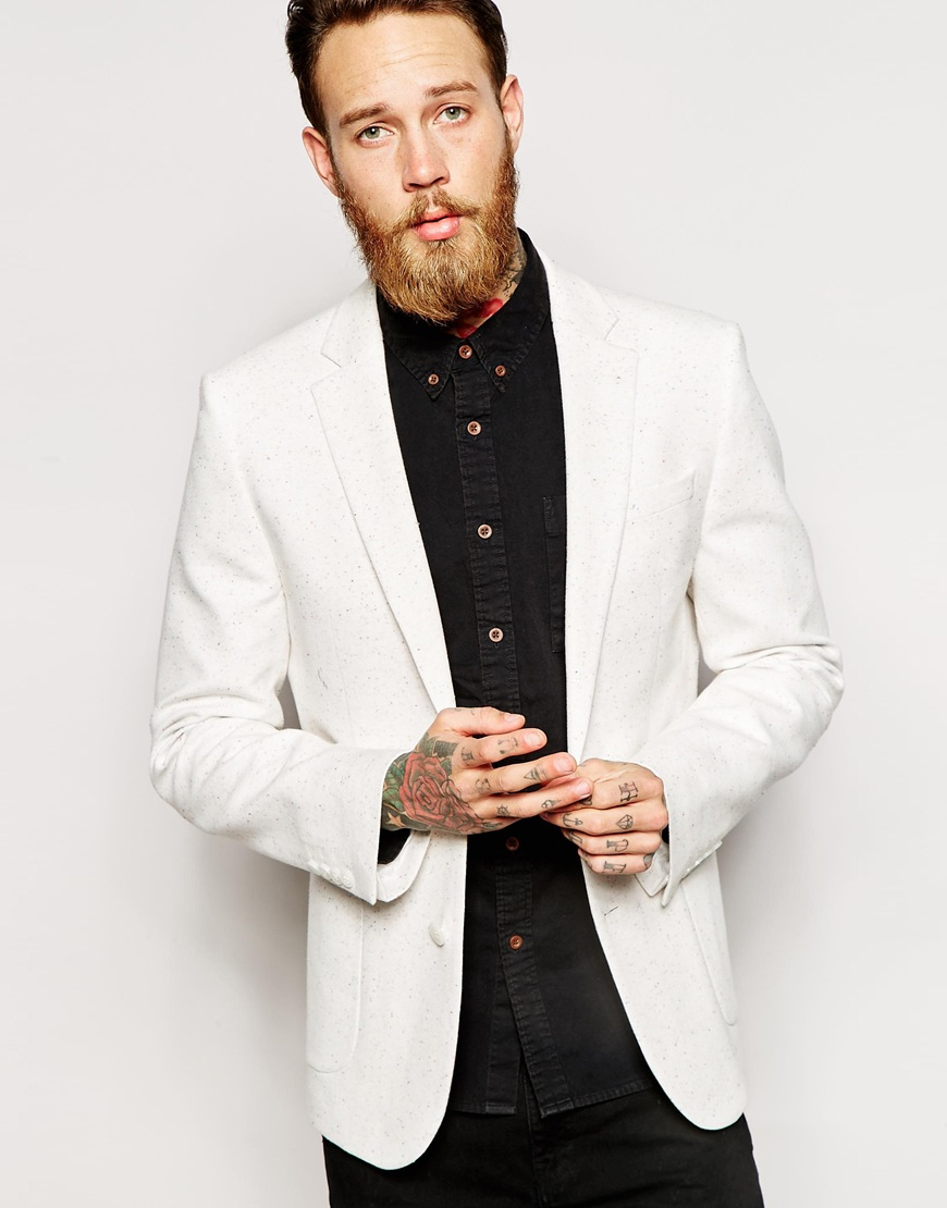 Cream Mens Blazer