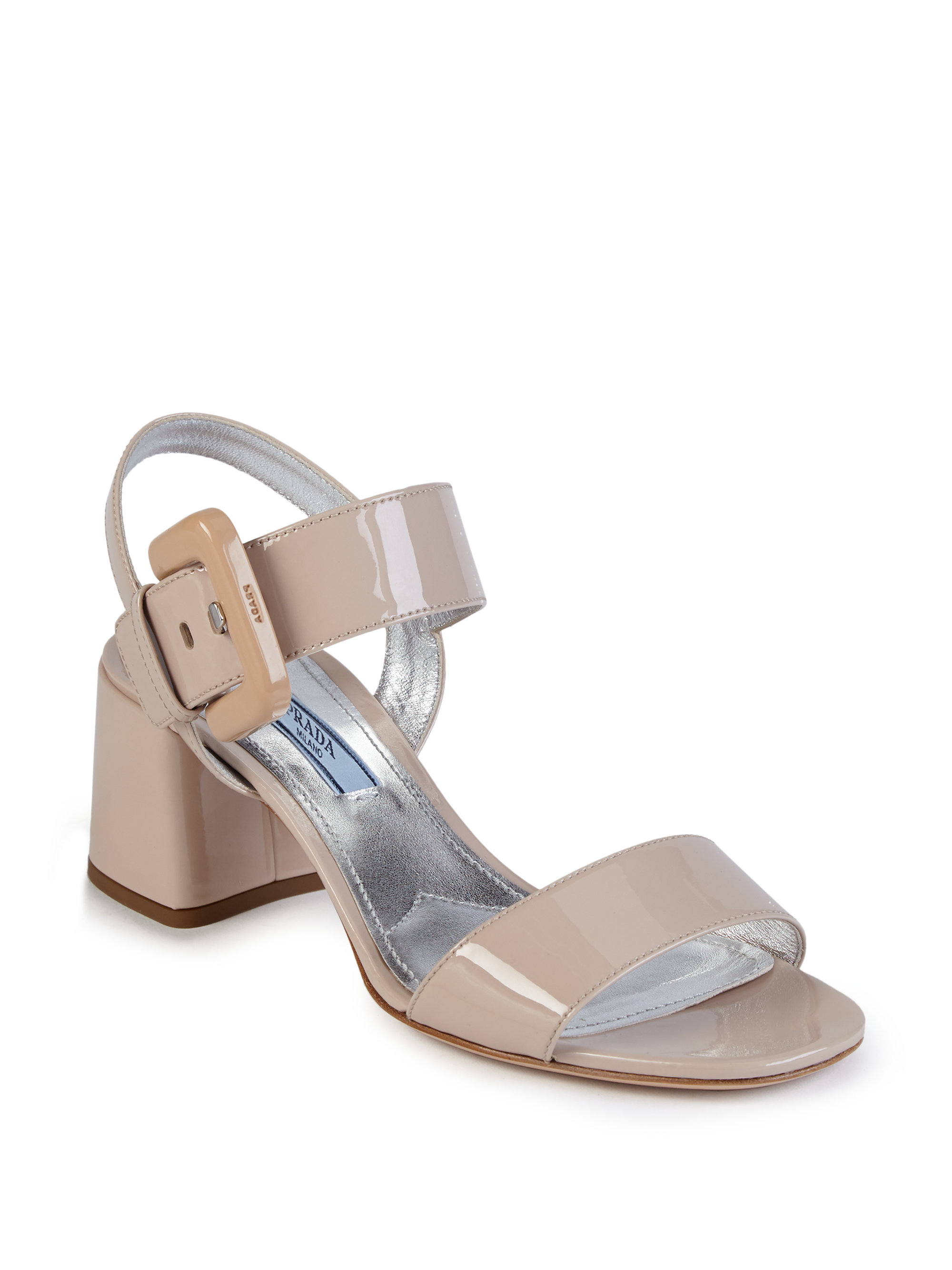 Prada Patent Leather Sandal UVeYChbf