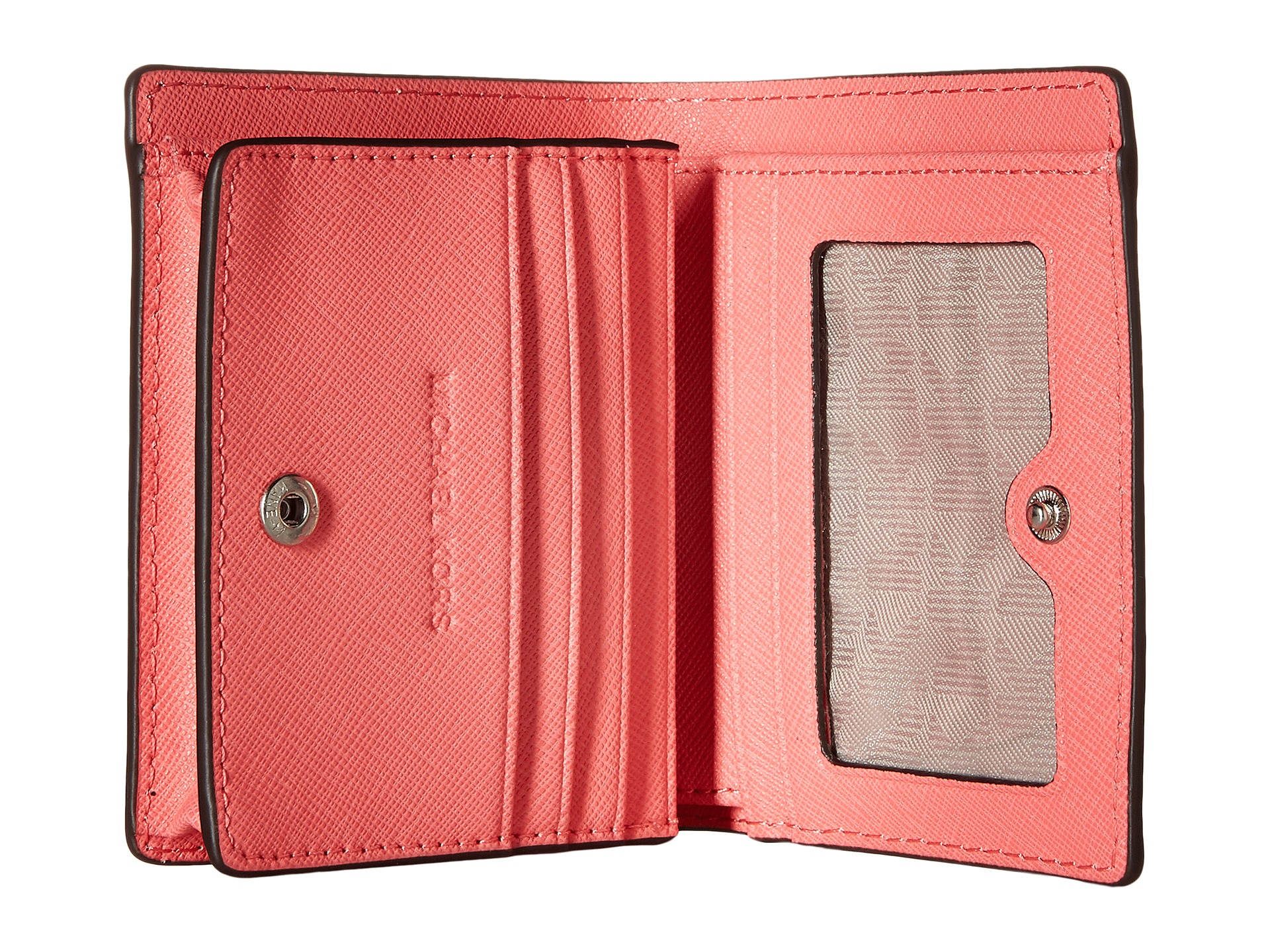 78e04f1f681a Lyst - MICHAEL Michael Kors Jet Set Travel Flap Card Holder in Pink