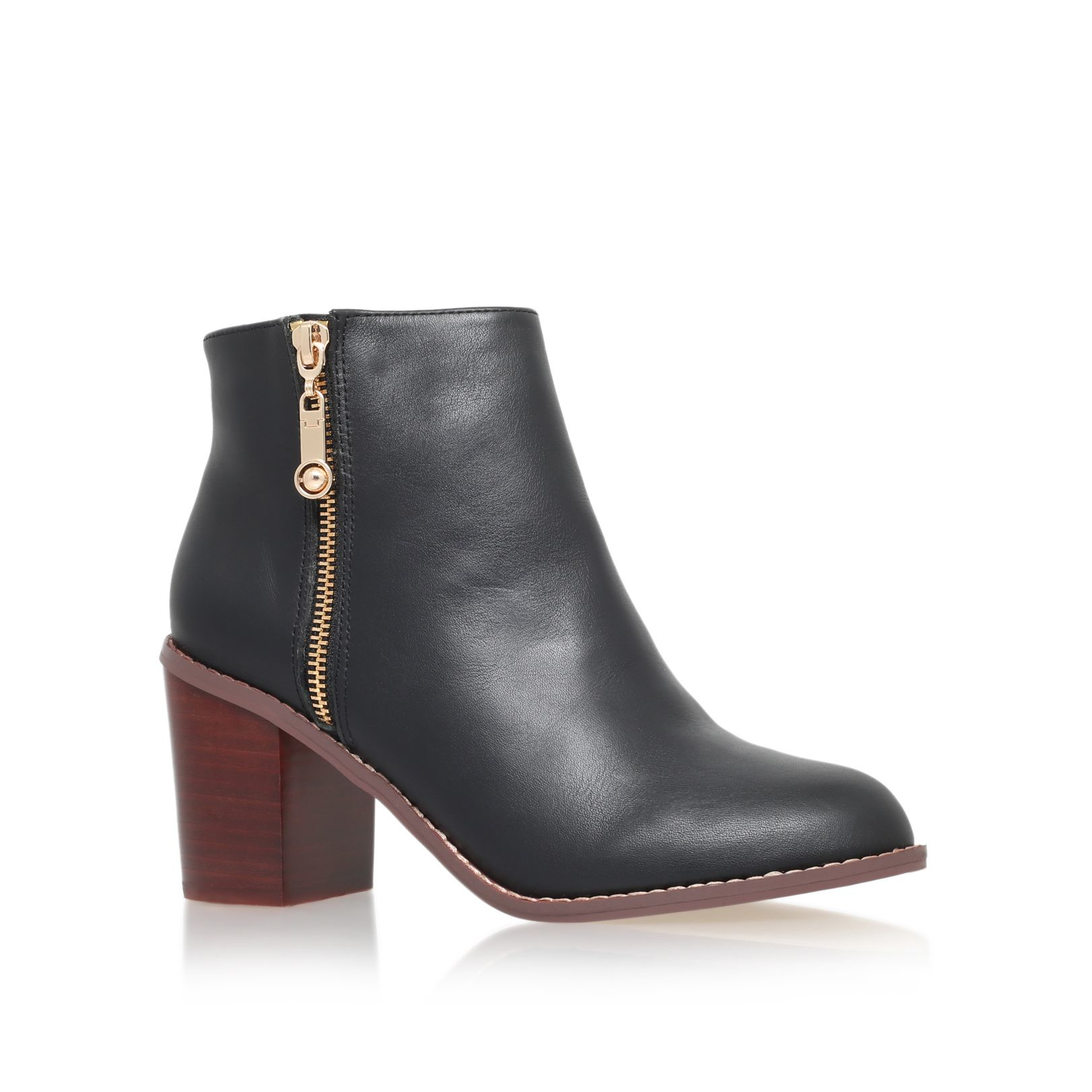 Carvela Kurt Geiger Tag Mid Block Heel Ankle Boots In Black | Lyst
