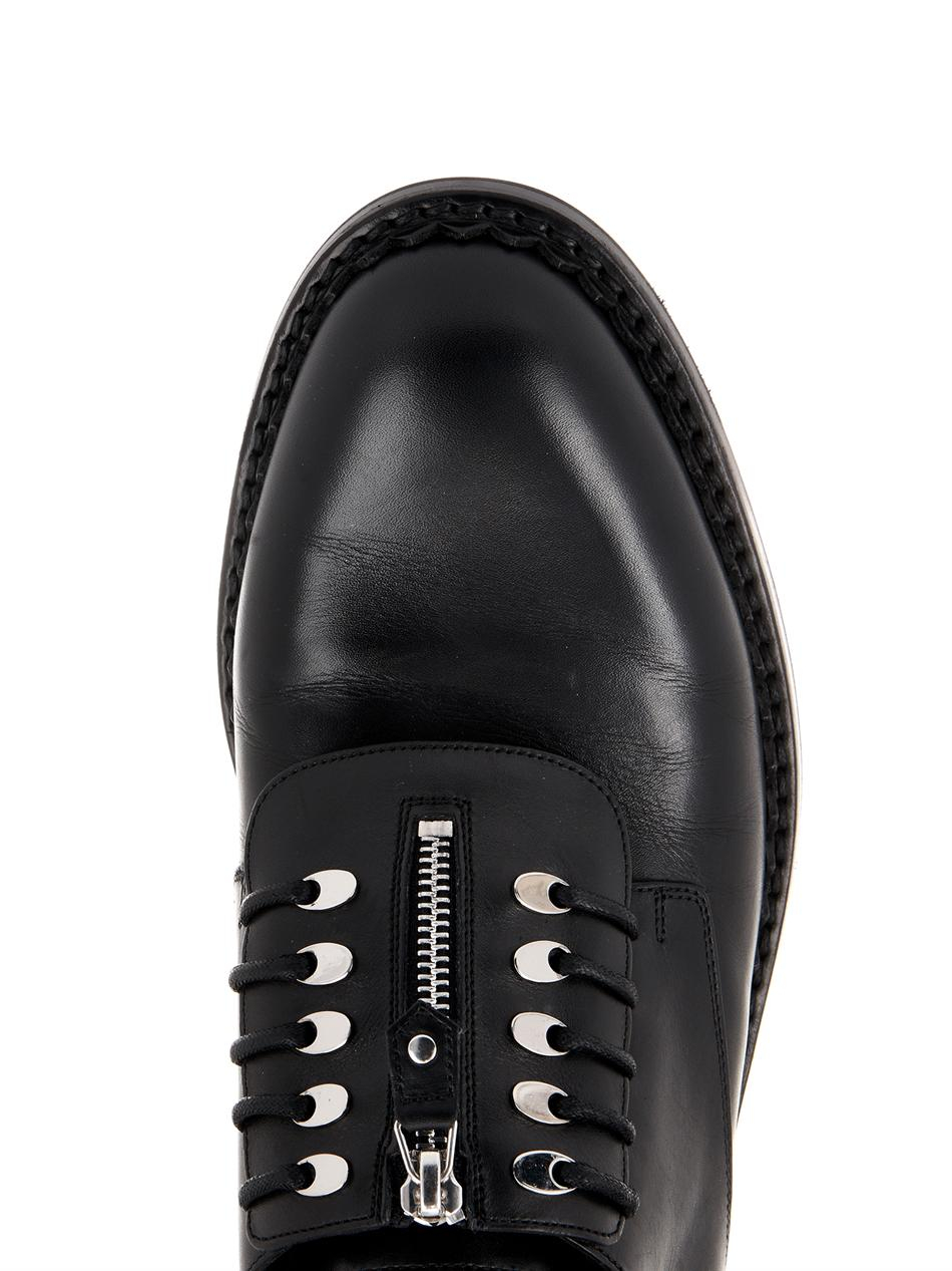 Balenciaga Leather Derby Shoes In Black For Men Lyst