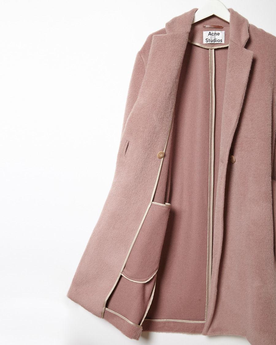 Acne studios Elga Wool Wrap Coat in Pink