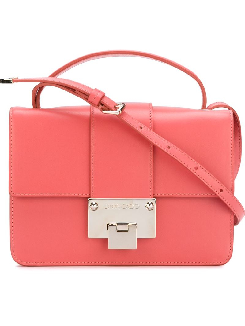 Jimmy choo 'rebel' Crossbody Bag in Pink | Lyst