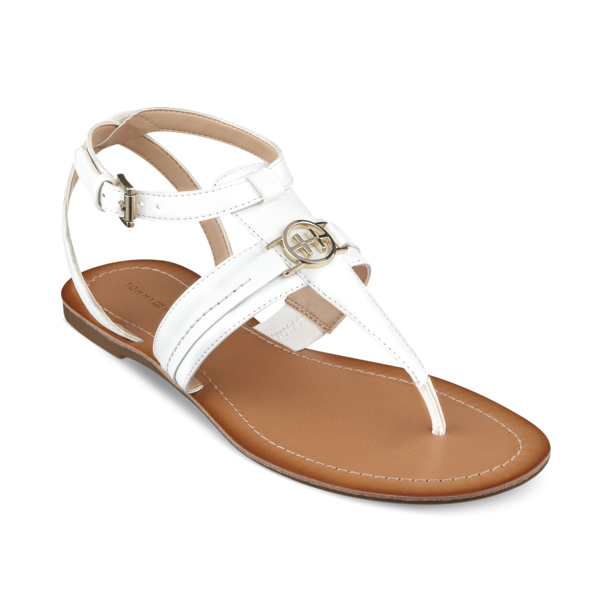 aabd80ac80bf92 Lyst - Tommy Hilfiger Womens Lorine Flat Thong Sandals in White