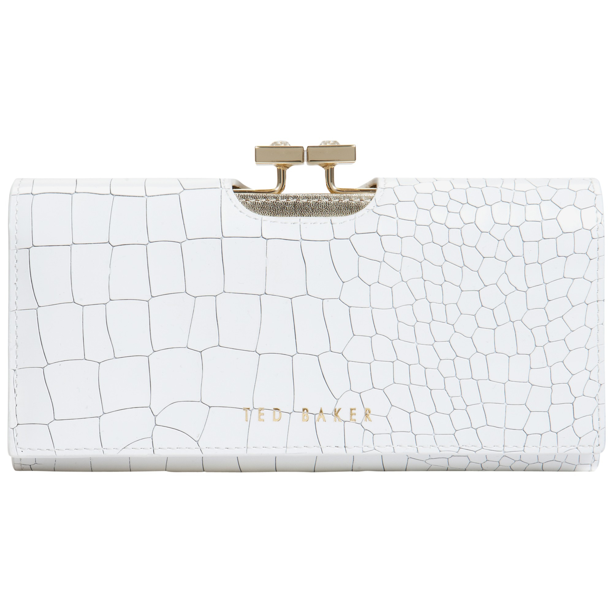 5ebb8cfceb5ee Ted Baker Jennie Exotic Leather Matinee Purse In White Lyst