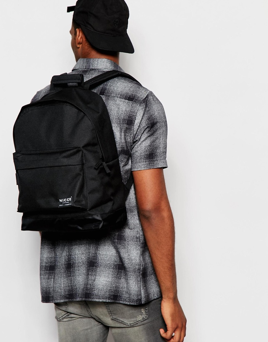 626442977fffc5 Lyst - Nicce London Nicce Logo Backpack In Black in Black for Men