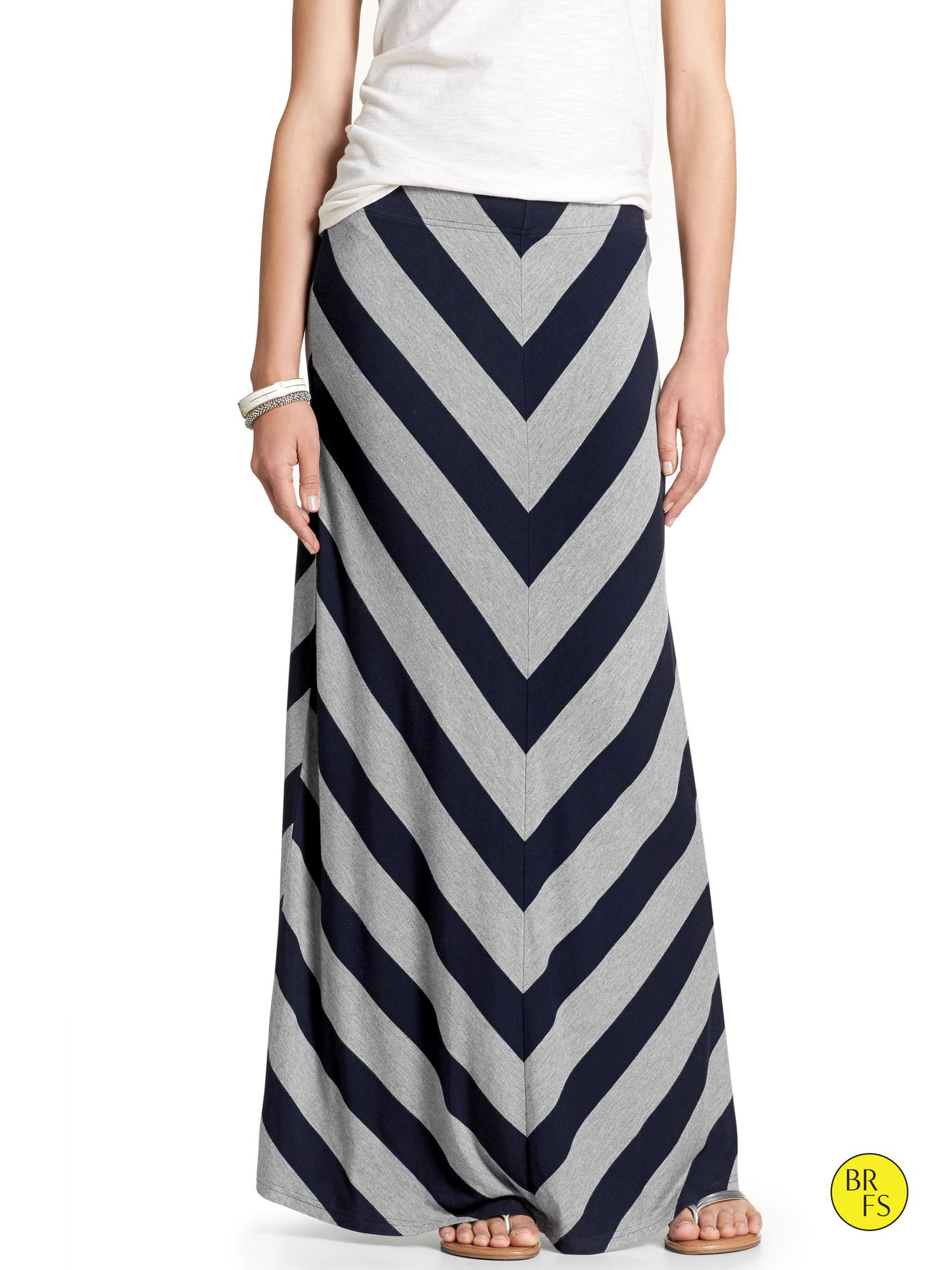 banana republic factory chevron stripe maxi skirt true