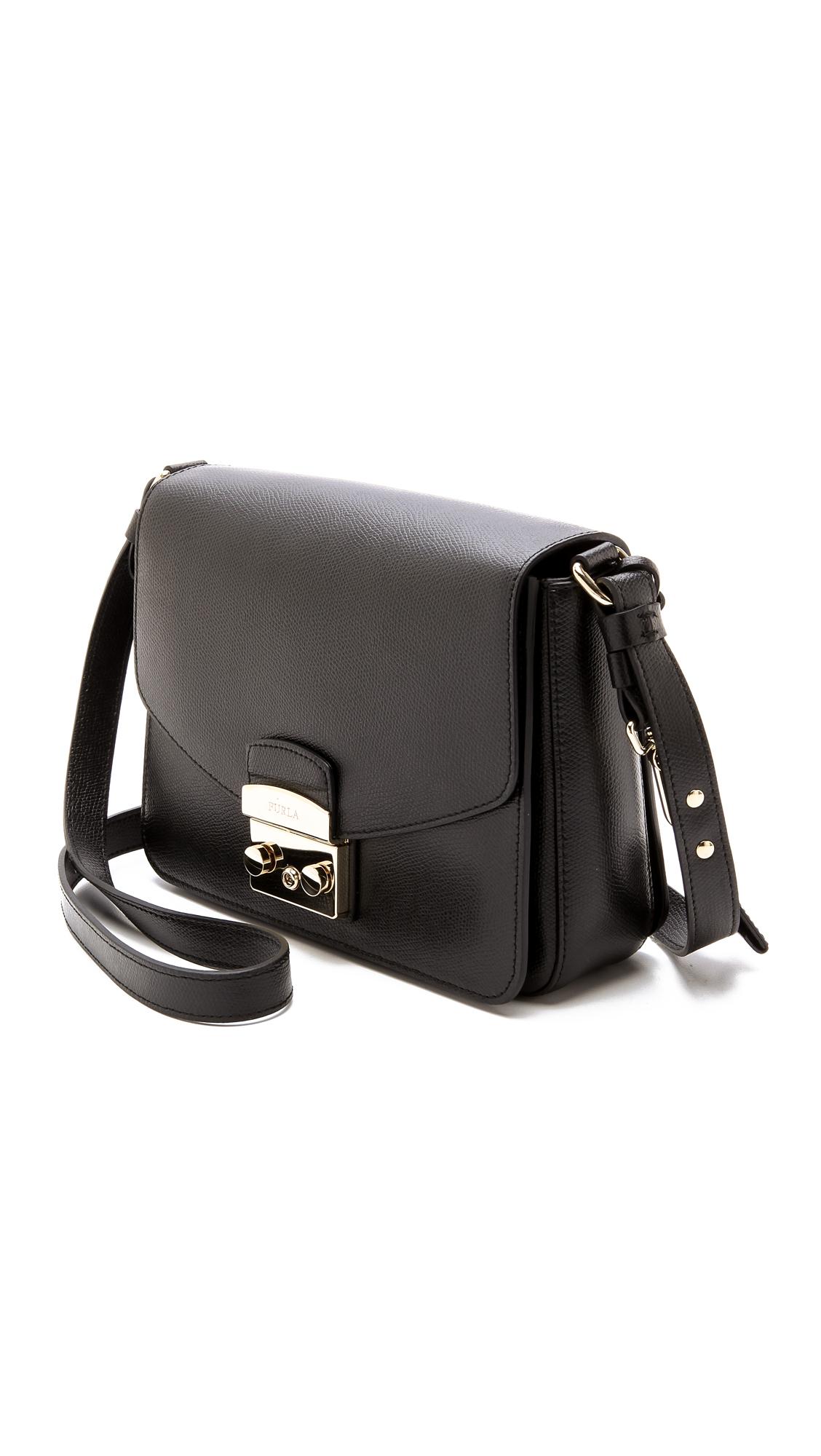 75bda553c5ce Furla Metropolis Shoulder Bag - Onyx in Black - Lyst