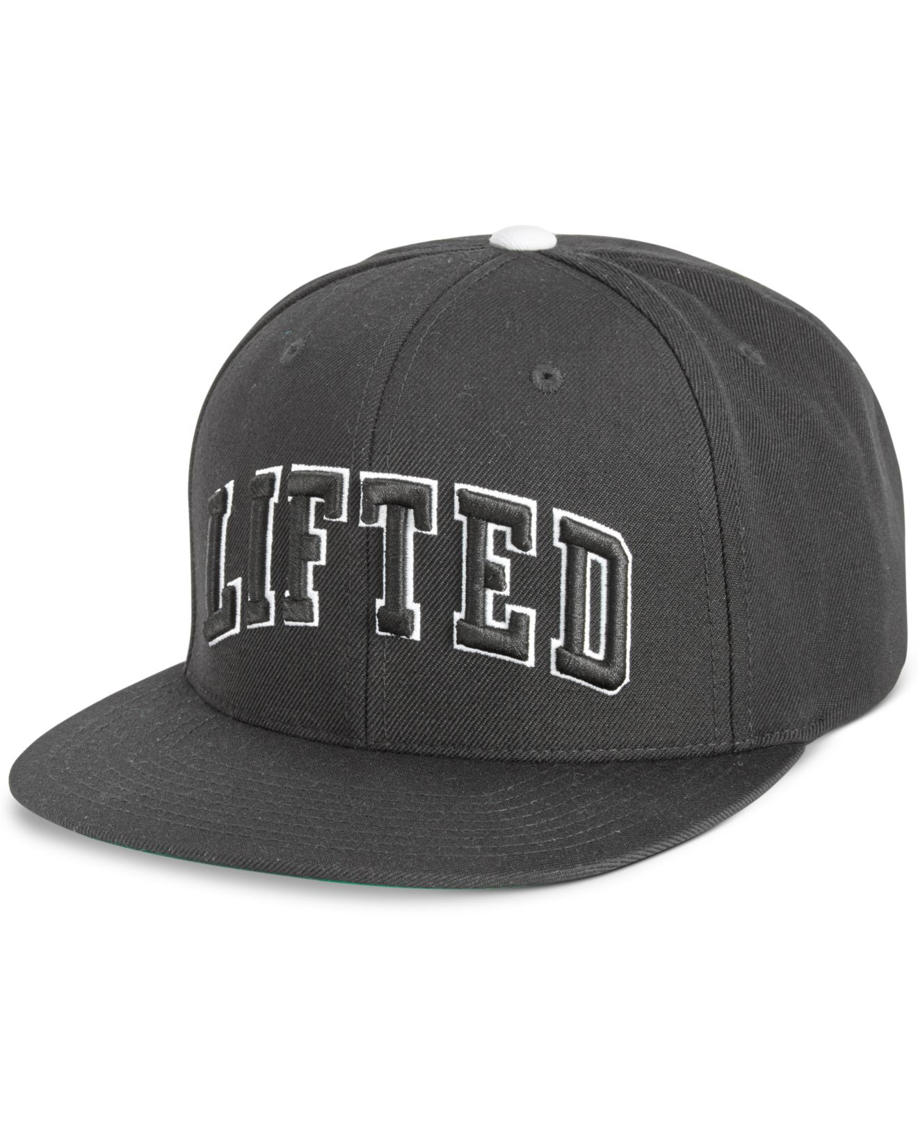 76bea2c3715 Lyst - LRG Men s Lifted Embroidered Snapback Hat in Black for Men