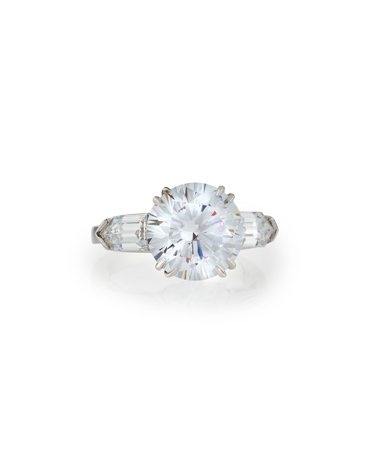 Fantasia Oval CZ Solitaire Ring w/Pavé Band D7eRPD