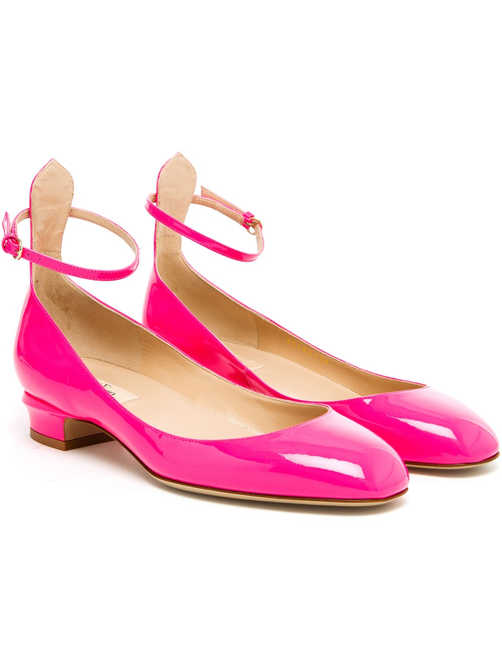 Lyst Valentino Tango Patent Leather Mary Jane Pumps In Pink