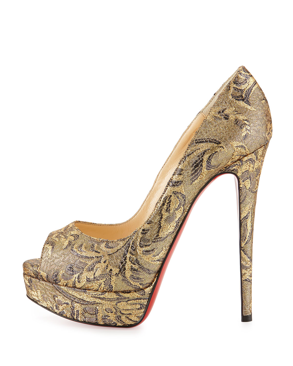 6a59c95e04fb christian louboutin metallic python point-toe pumps