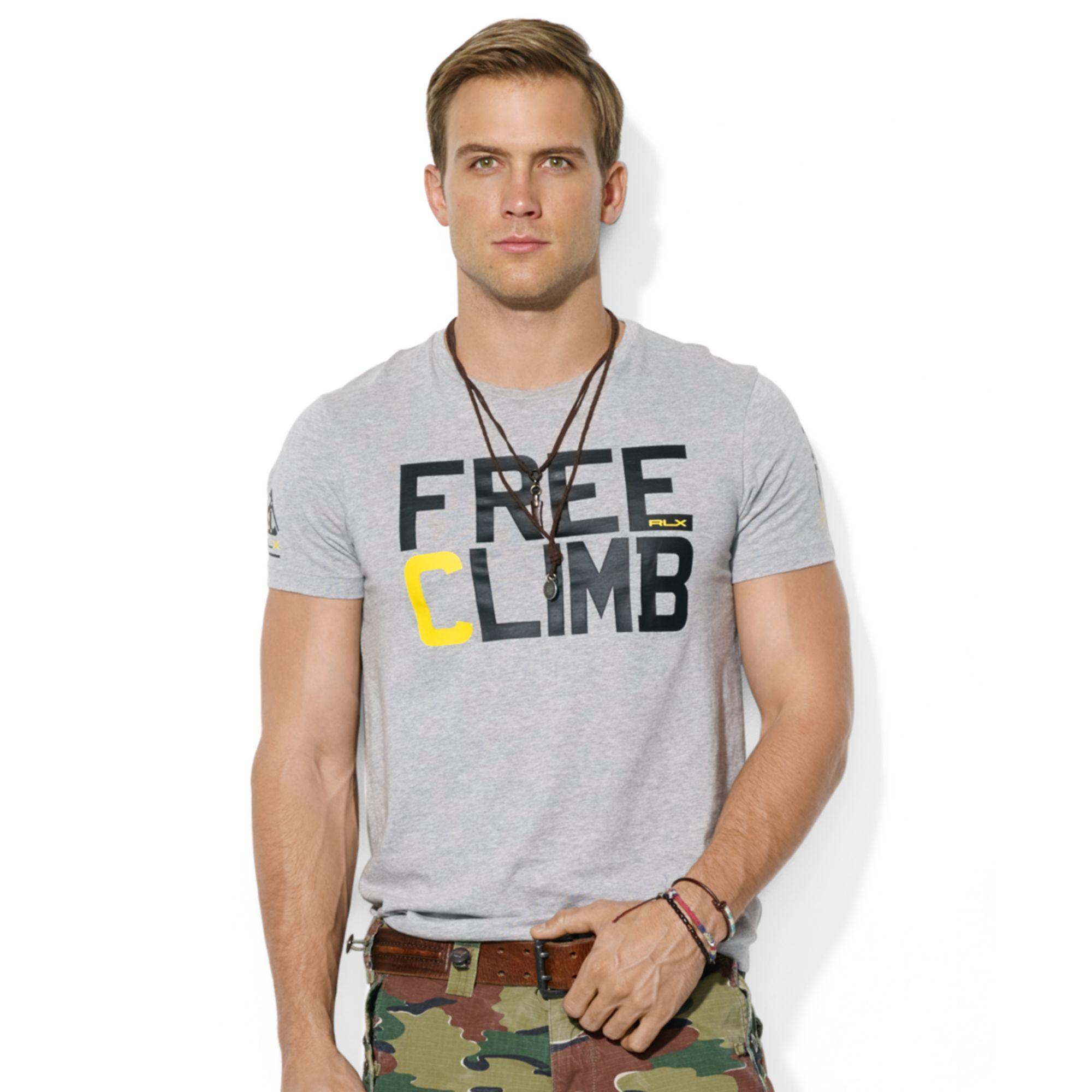 Ralph lauren Polo Rlx Climbing Tshirt in Gray for Men (Spring Heather)   Lyst