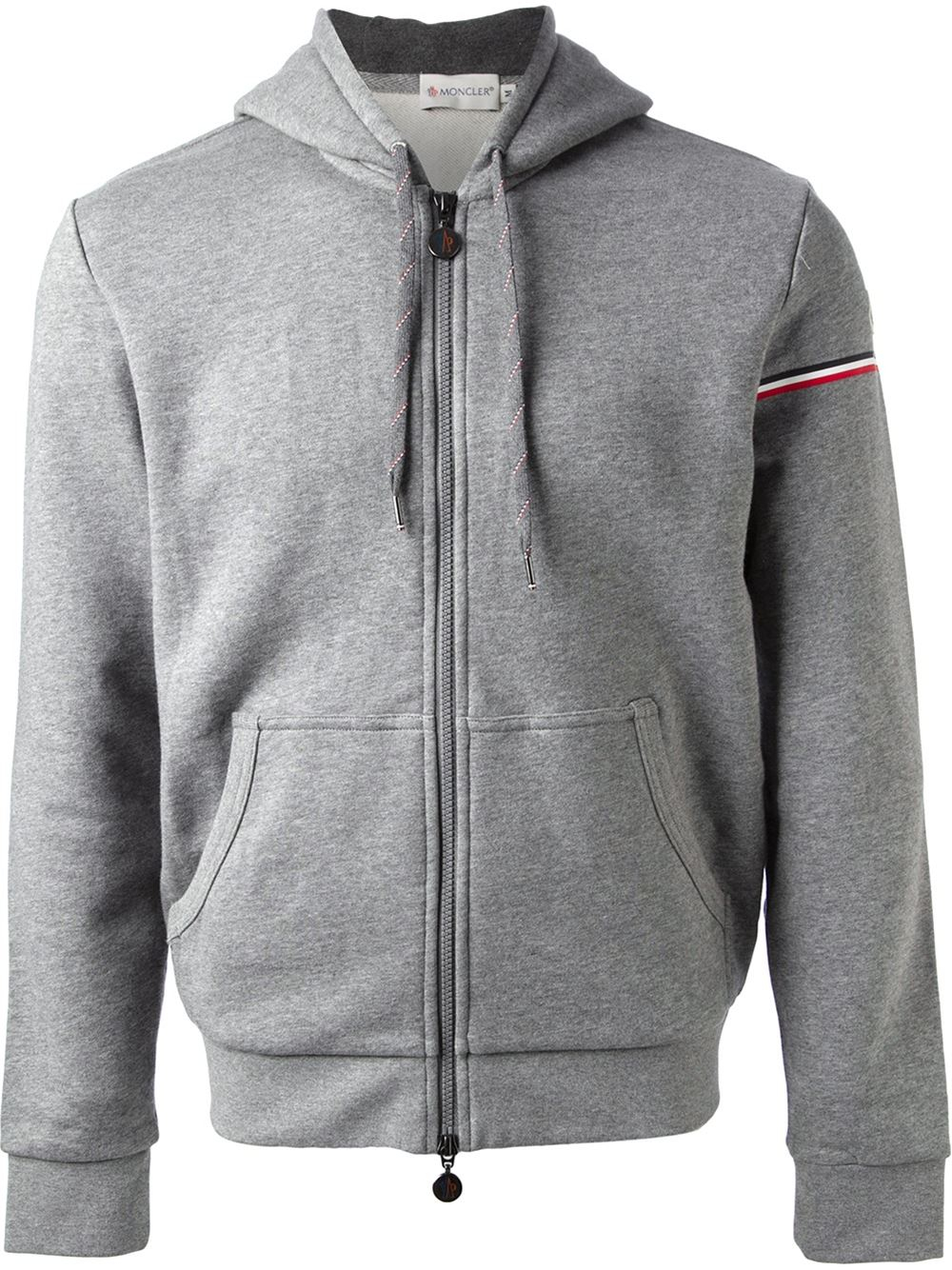 moncler grey zip up
