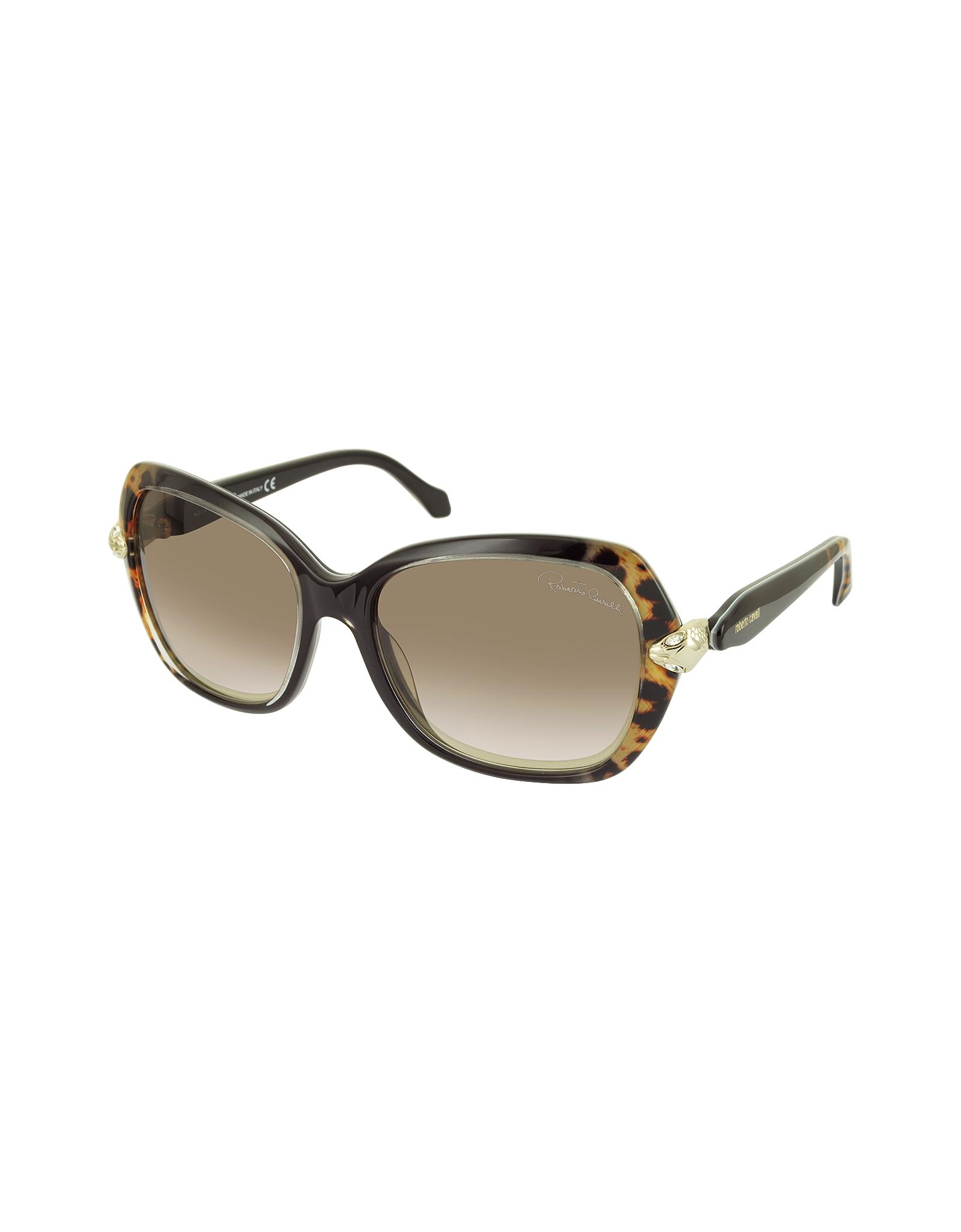 Roberto Cavalli Woman Square-frame Acetate Sunglasses Black Size Roberto Cavalli F4pTKZRHwA