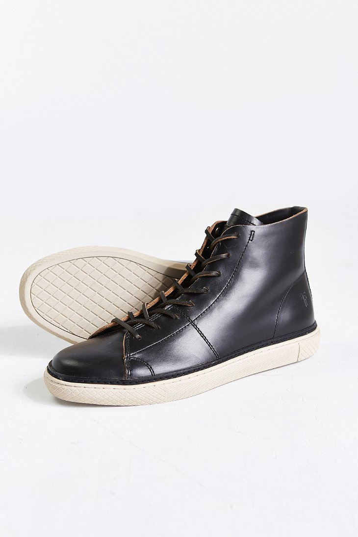 Frye Gates High Top Shoe In Black For Men Lyst