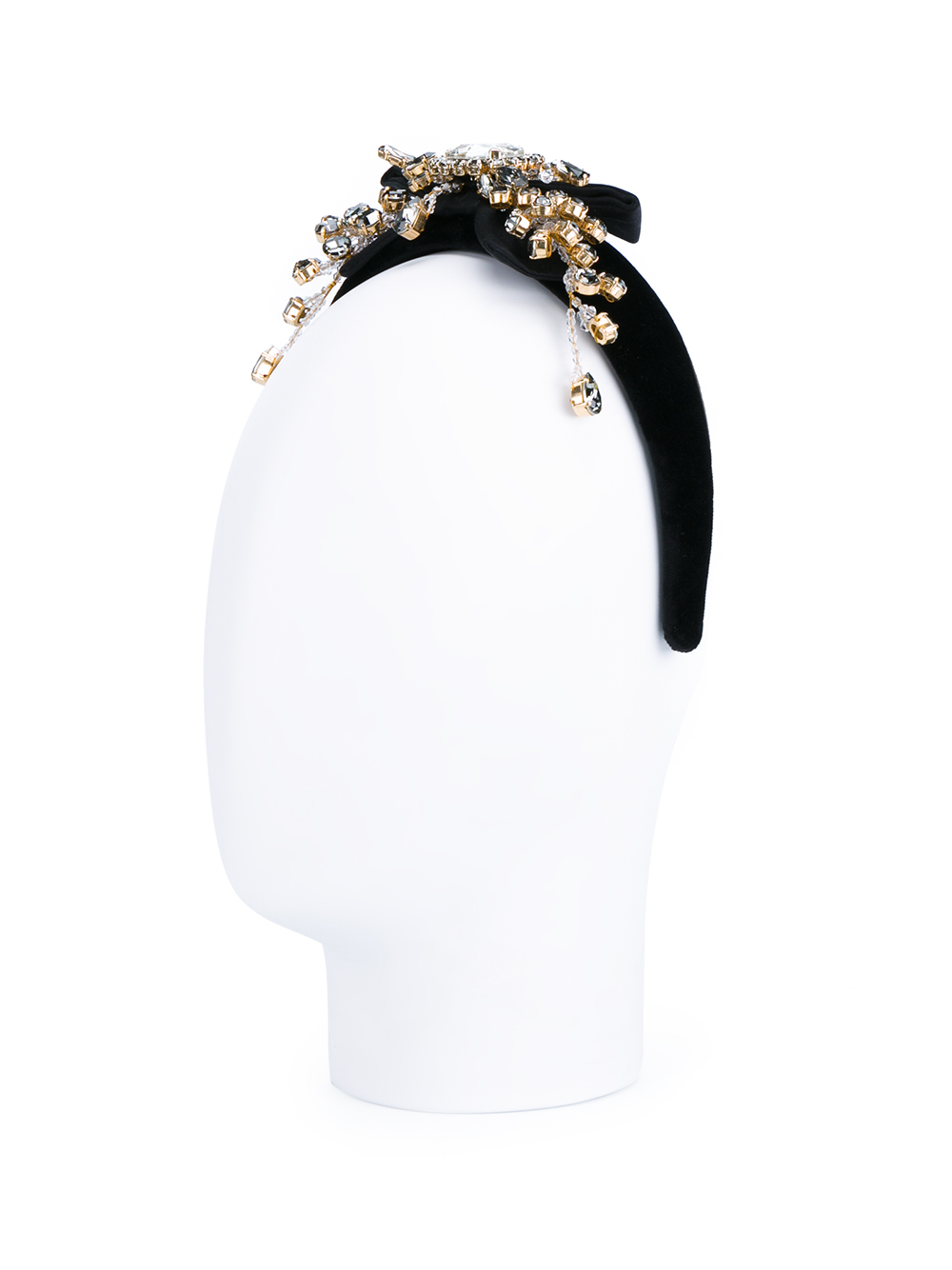 Lyst - Dolce   Gabbana Embellished Velvet Turban Headband in Black ad3c5021165