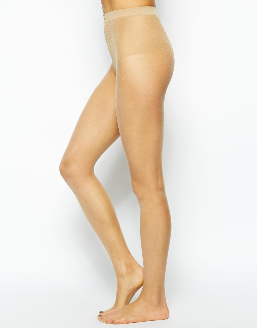 1b45a679c Pretty Polly 8 Denier Oiled Tights in Natural - Lyst