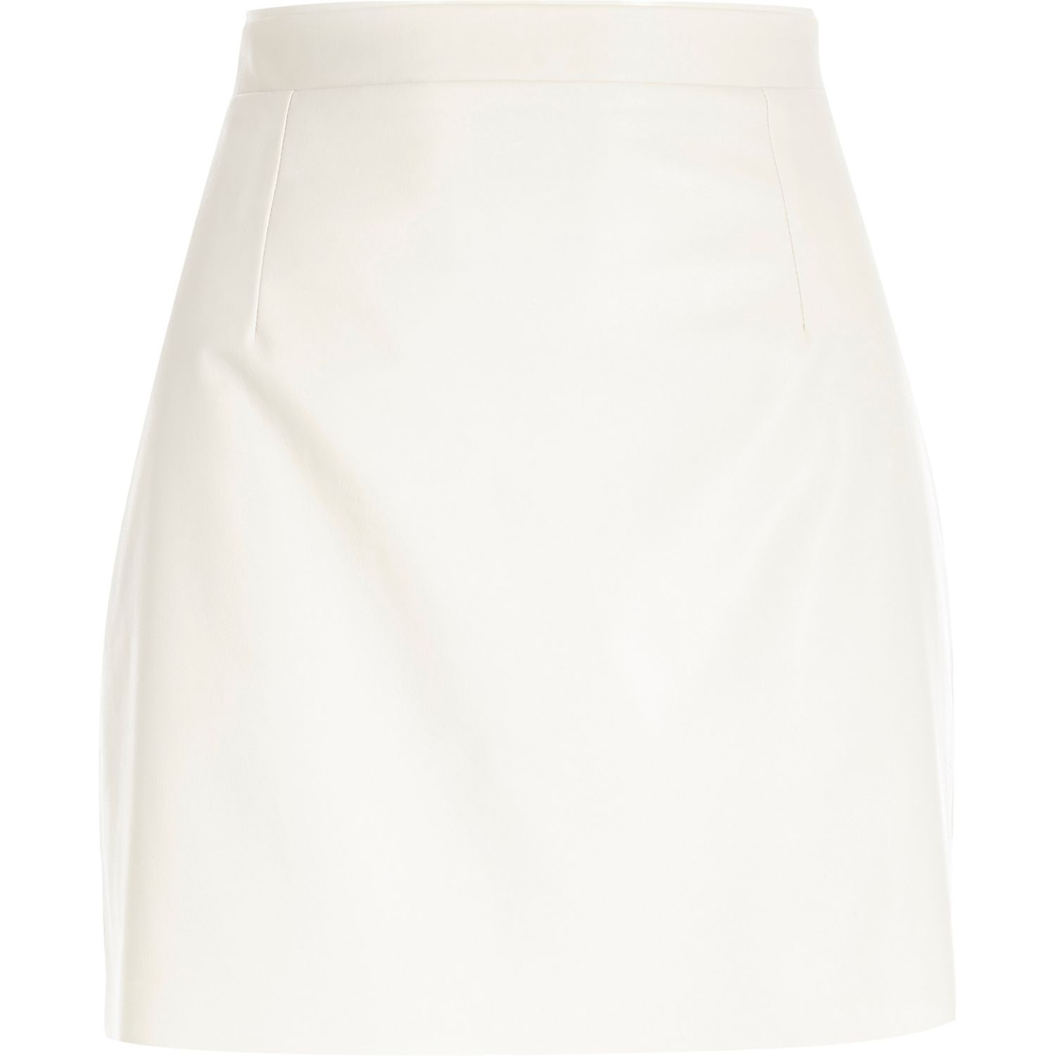 River island White Leather-look Mini Skirt in White | Lyst