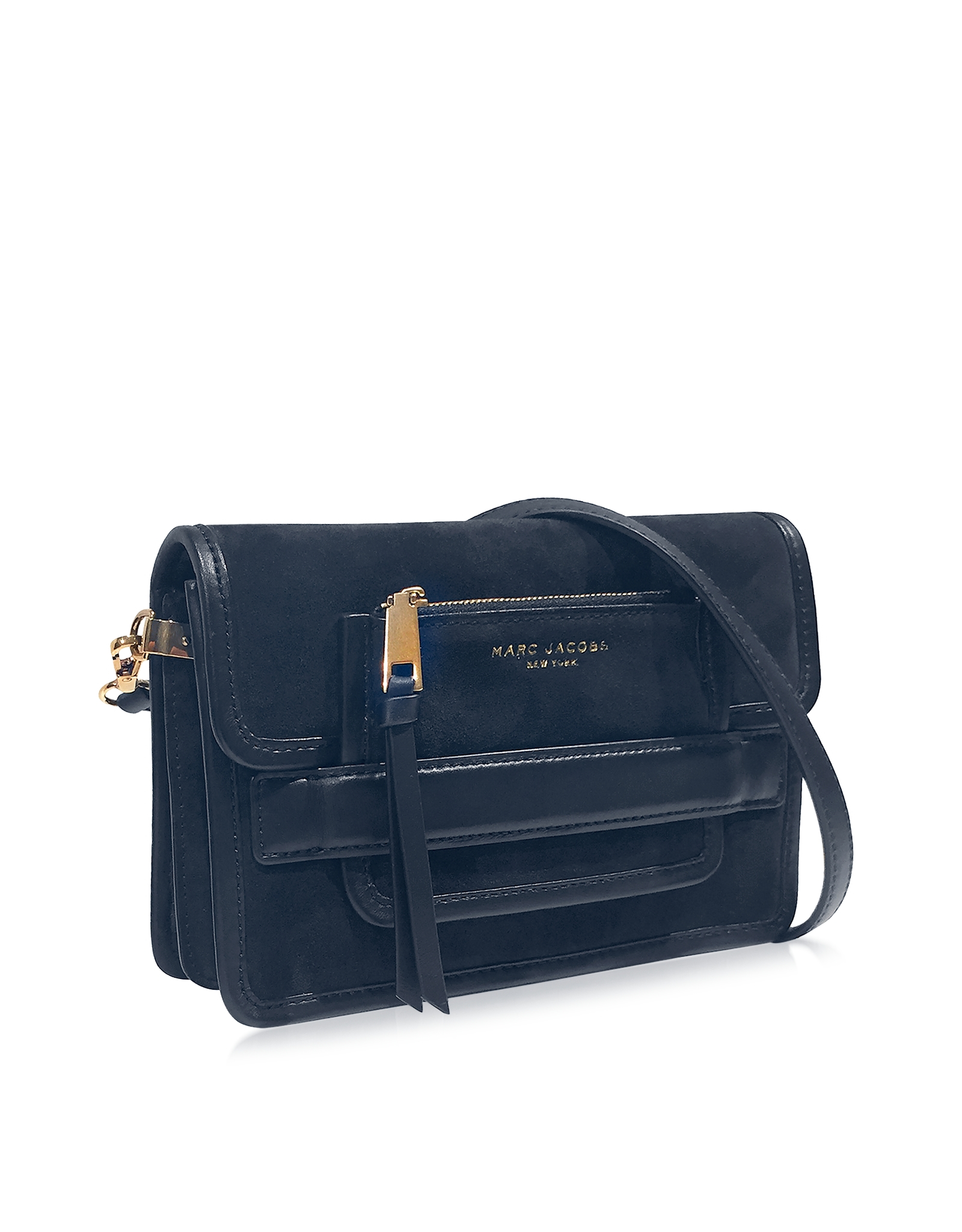 a782fd8d778d Lyst - Marc Jacobs Madison Midnight Blue Suede   Leather Medium ...