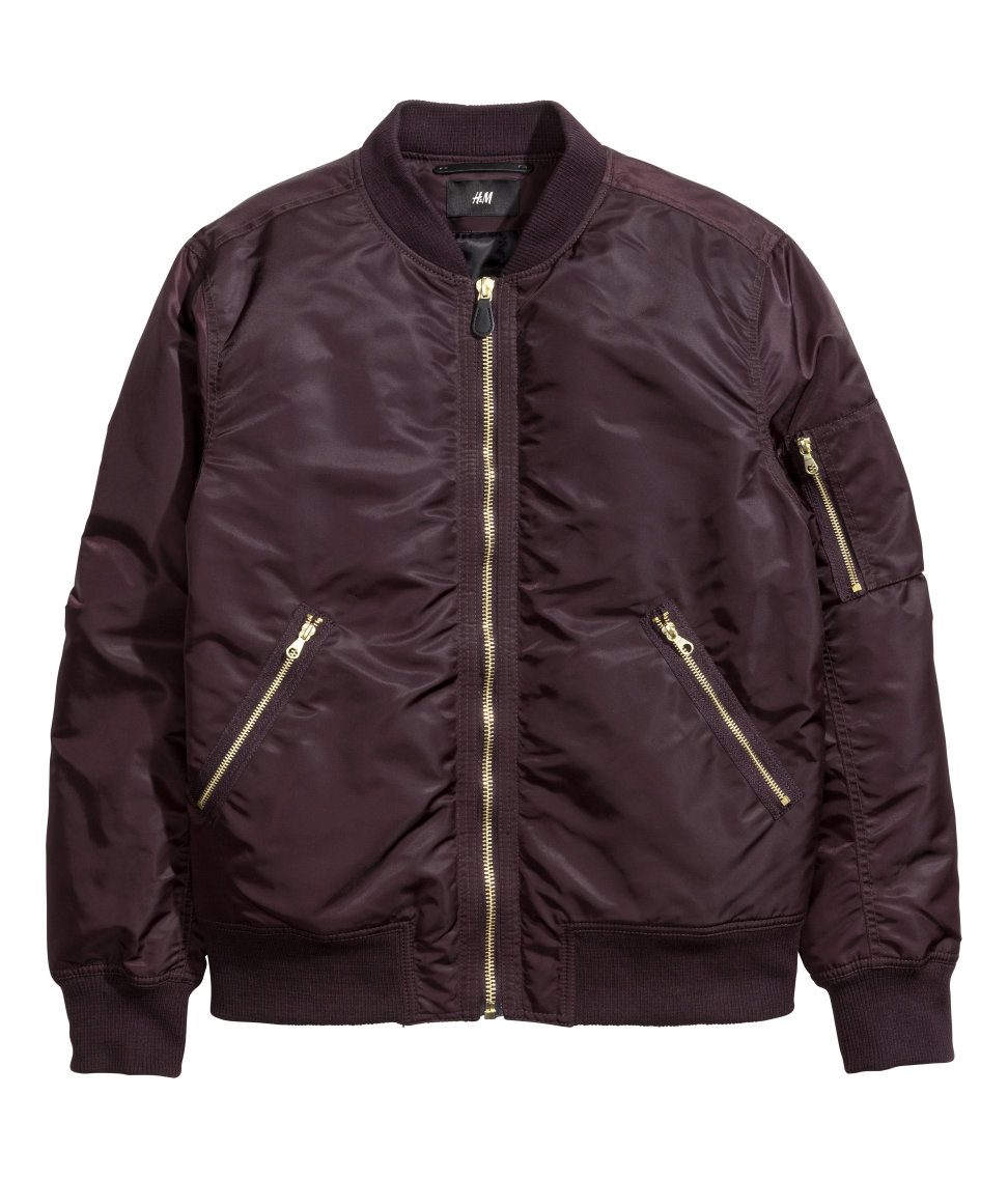 H&m Bomber Jacket in Purple for Men | Lyst