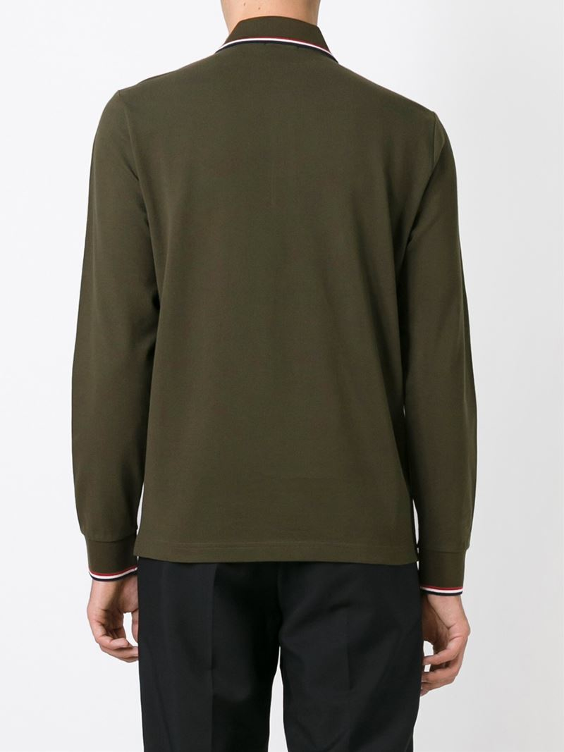 moncler long sleeve polo green