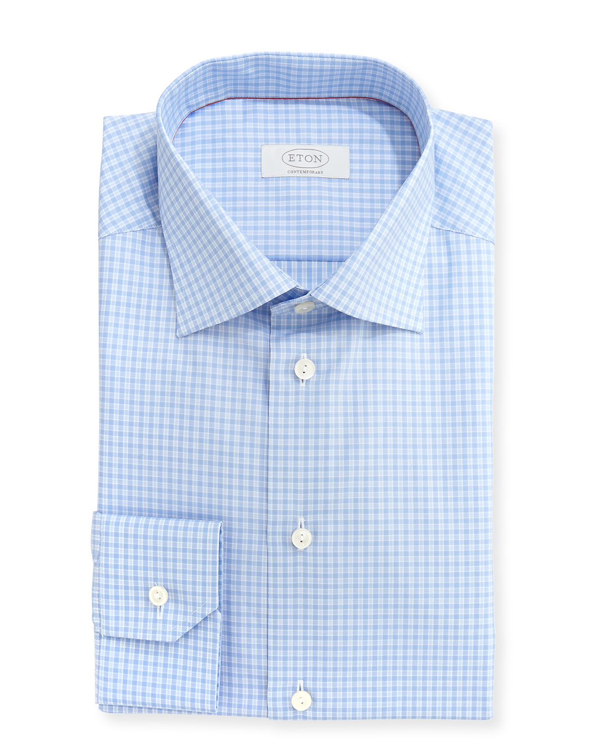 Eton Of Sweden Contemporary Fit Check Dress Shirt In Blue