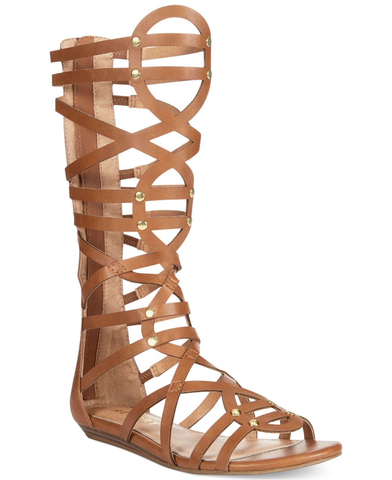 Lyst Report Amorie Tall Gladiator Sandals In Brown