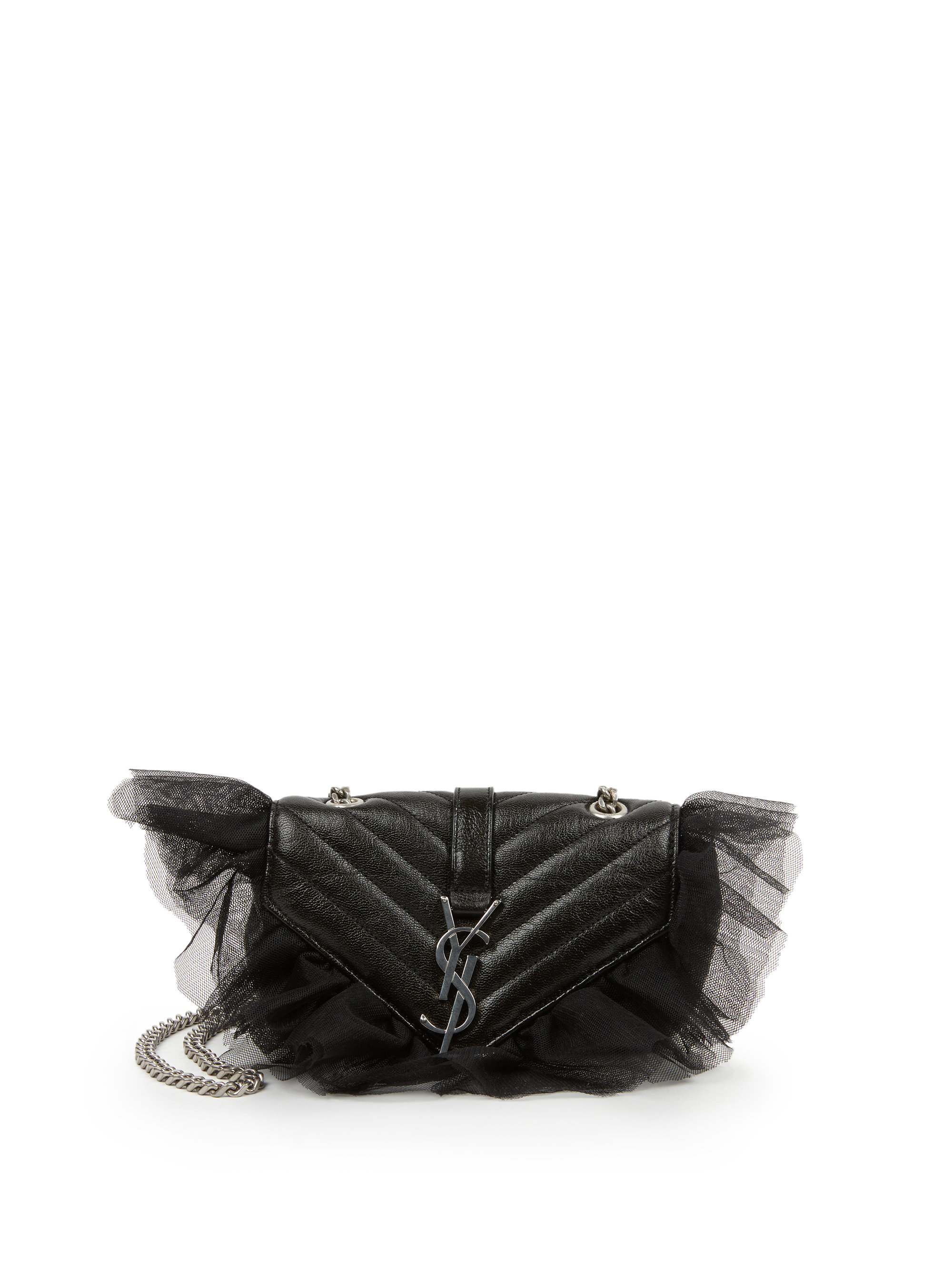 ysl cabas chyc large - Saint laurent Monogram Baby Matelasse Leather & Tulle Crossbody ...
