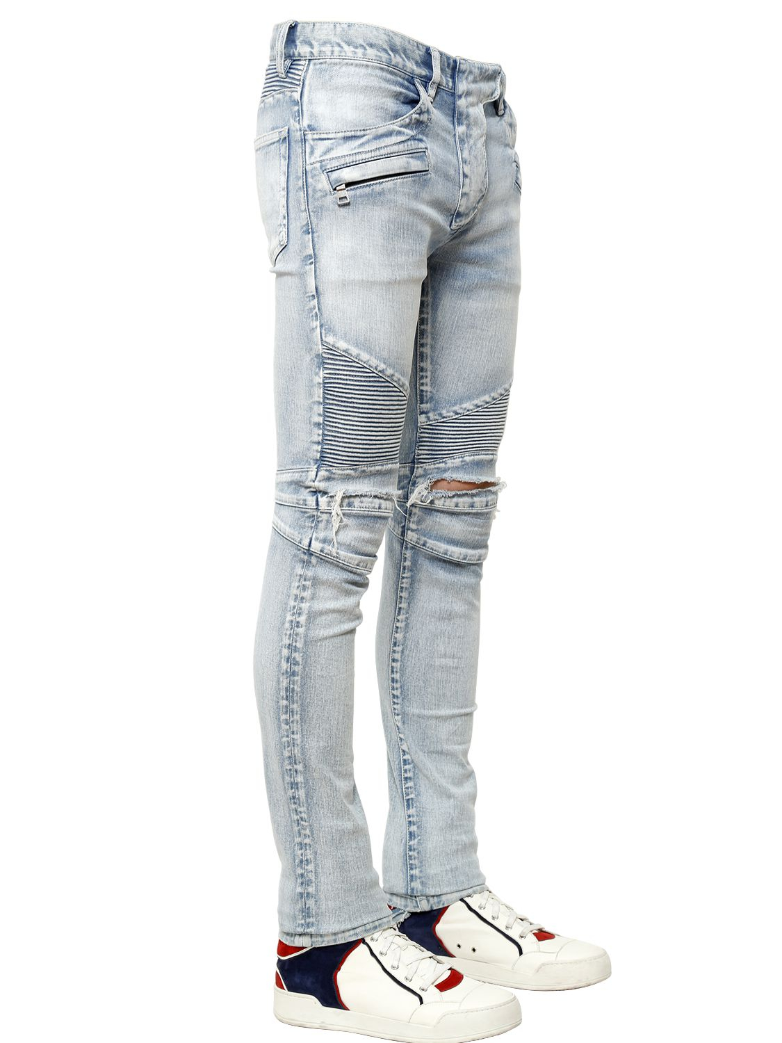 how to create destroyed jeans