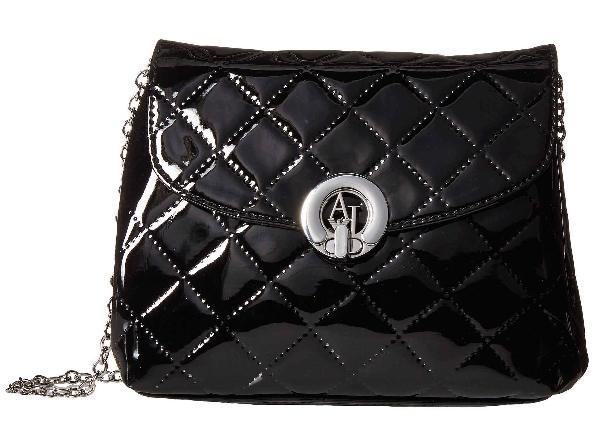 Lyst - Armani Jeans Quilted Patent Crossbody in Black 02dbfc01c7974