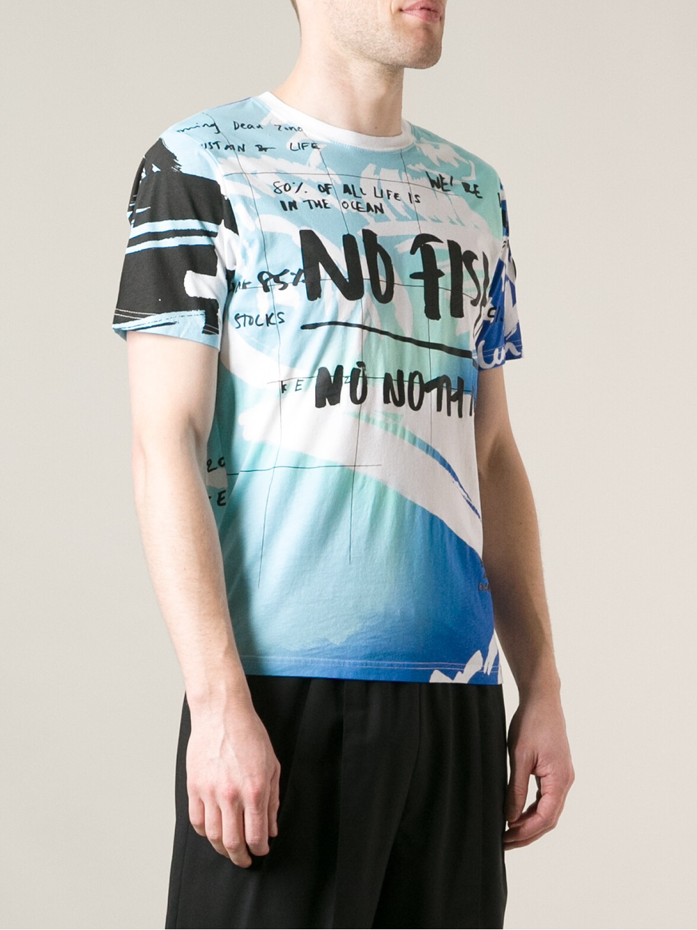 kenzo no fish tshirt in blue for men lyst. Black Bedroom Furniture Sets. Home Design Ideas