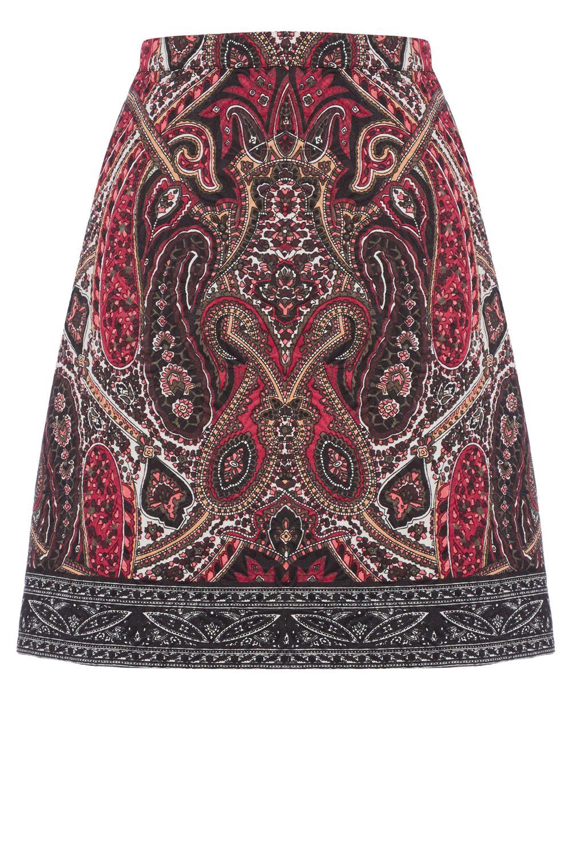 Oasis Paisley Border Jacquard Skirt Lyst