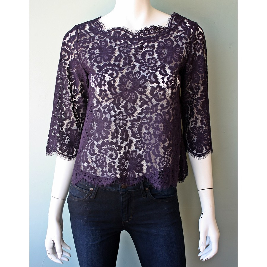 Joie Elvia Scalloped Lace Blouse 26