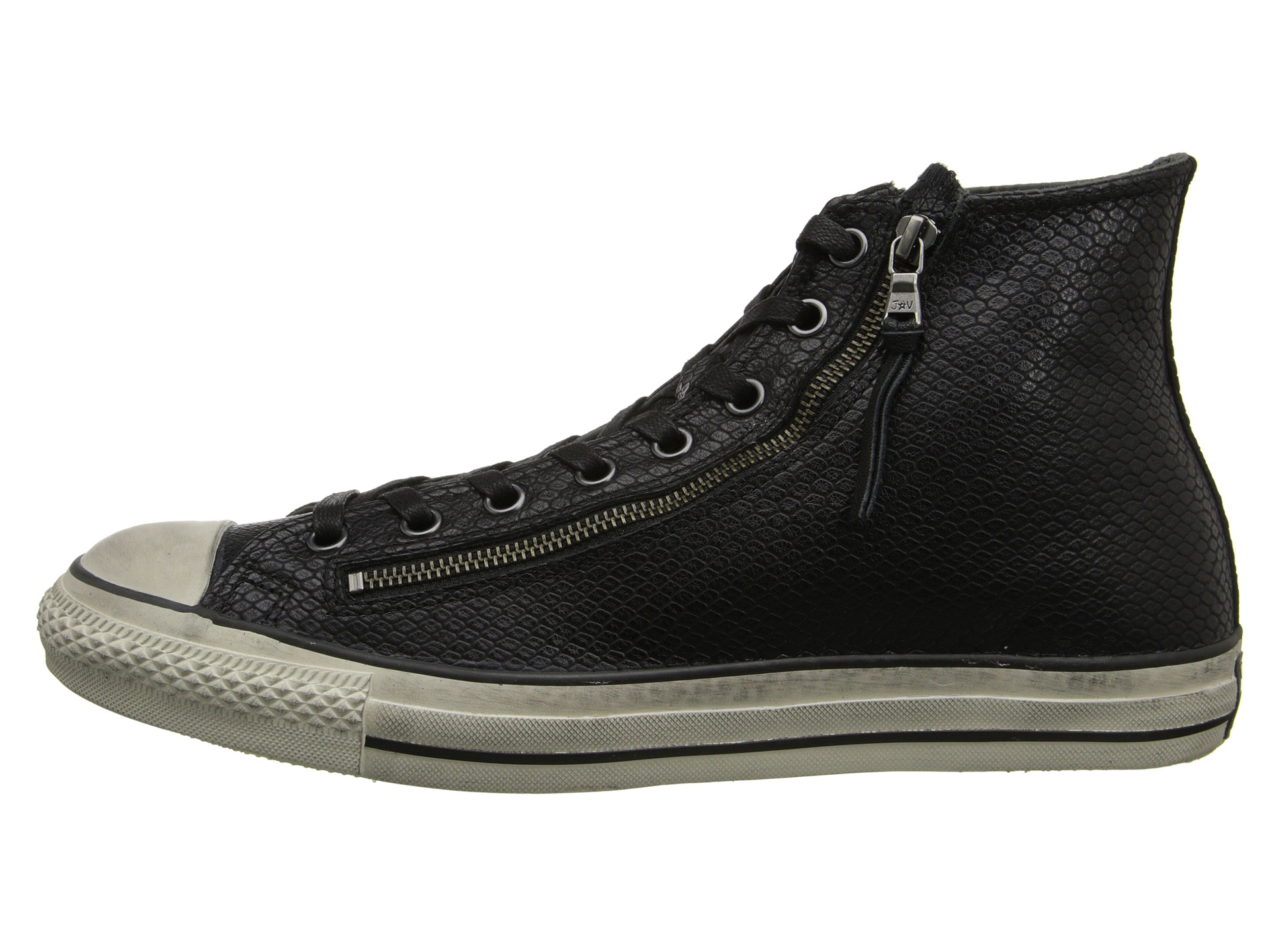 c1526586820d Lyst - Converse Chuck Taylor All Star Leather Double Zip Black Snake ...