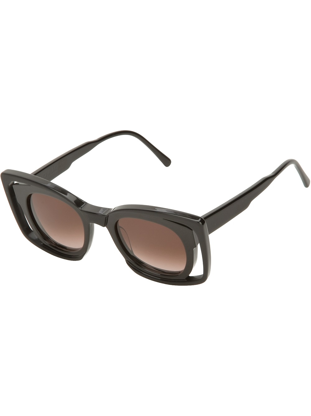 What's more glamorous than a pair of oversized sunglasses? On your face, they give you a mysterious, movie-star look. Black or tortoise frames are classics and look good on almost everyone. Vintage 's Spectacle Steampunk Horned Rim Sunglasses $ USD. Designer Inspired Round Circle Half Tinted Lens Sunglasses