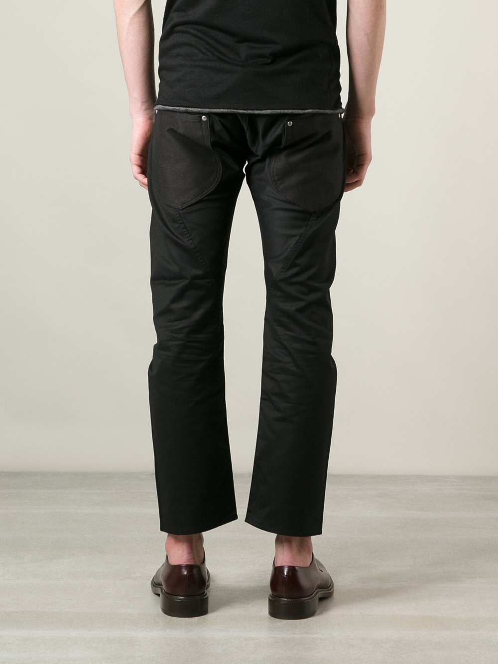 Junya watanabe Mens Cropped Pants in Black for Men | Lyst