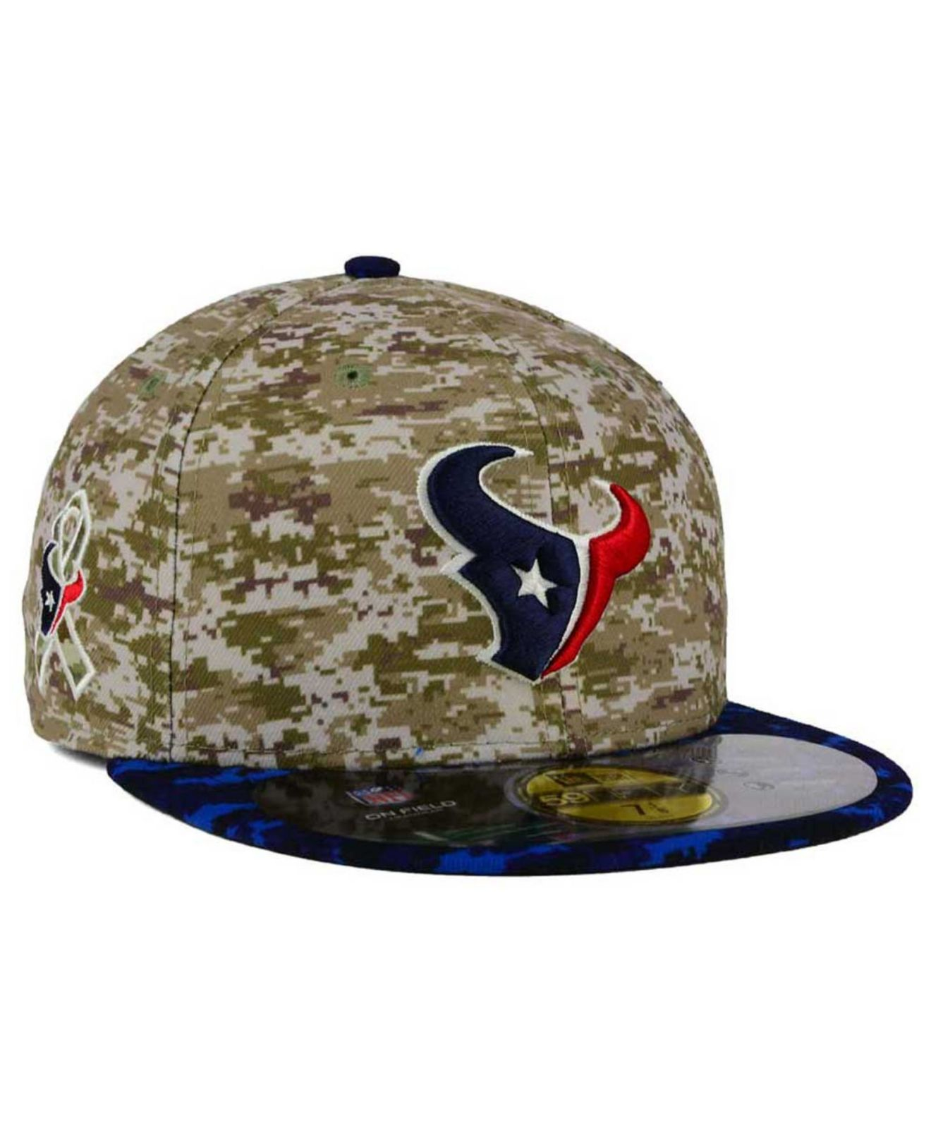 337523bb6 KTZ Houston Texans Salute To Service 59fifty Cap in Green for Men - Lyst