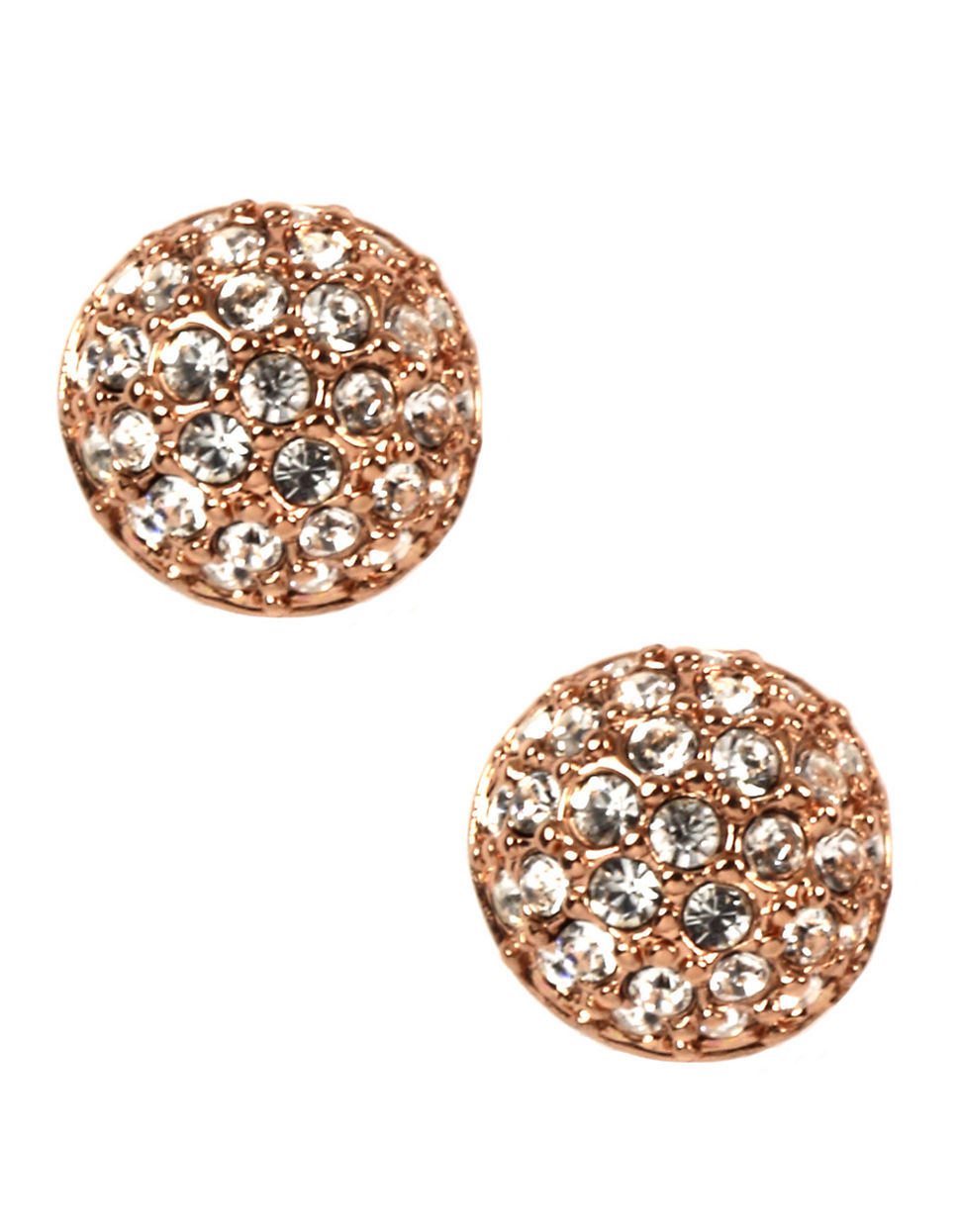 8d39e6cd8 Givenchy Rose Gold Plated And Crystal Button Stud Earrings in Pink ...