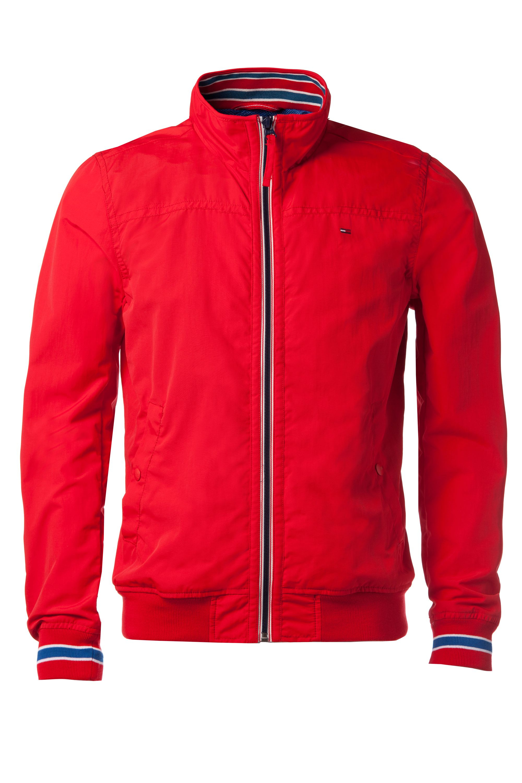 tommy hilfiger bobby casual bomber jacket in red for men lyst. Black Bedroom Furniture Sets. Home Design Ideas