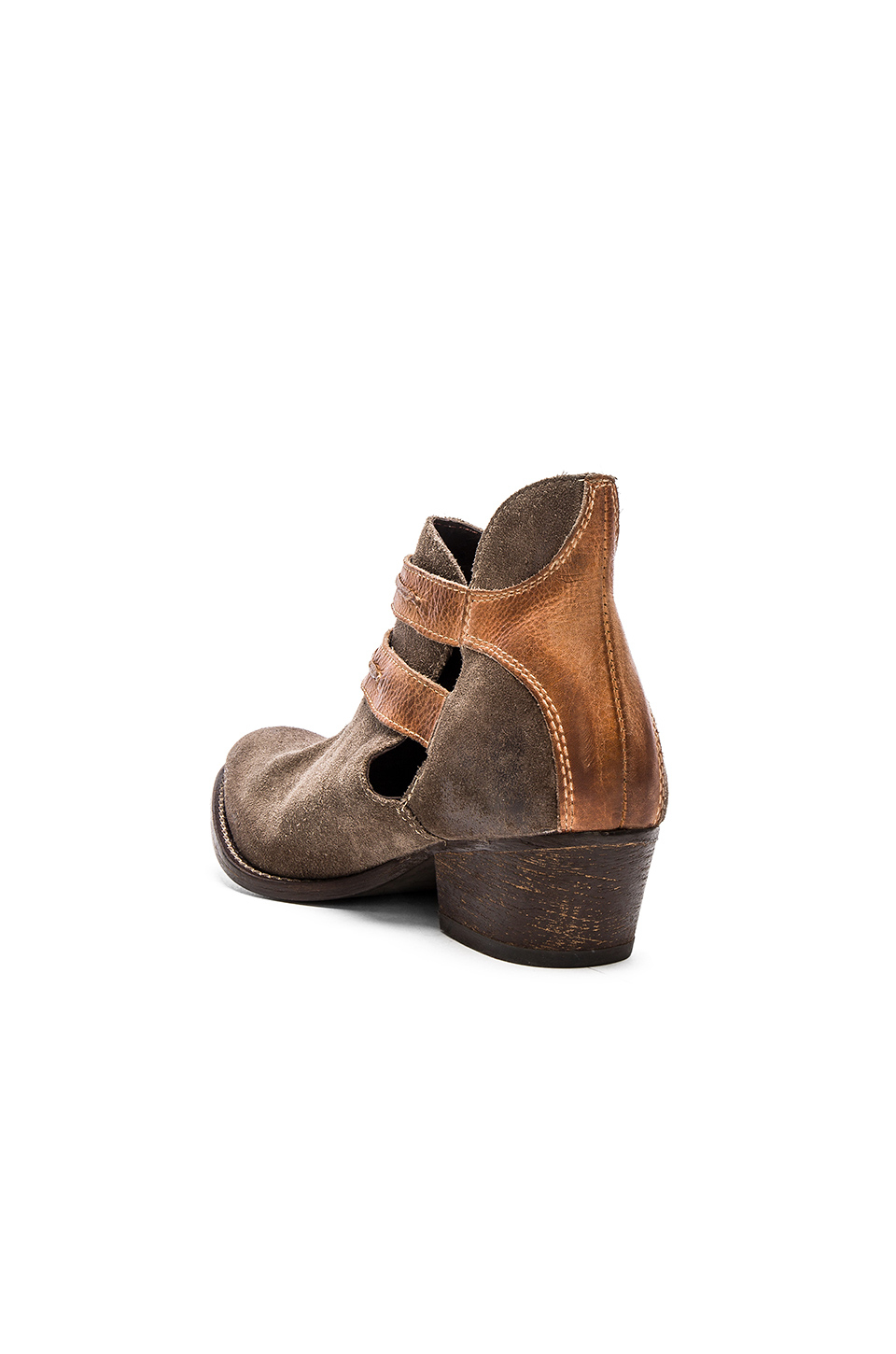 Rebels Calista Suede Ankle Boots In Brown Lyst