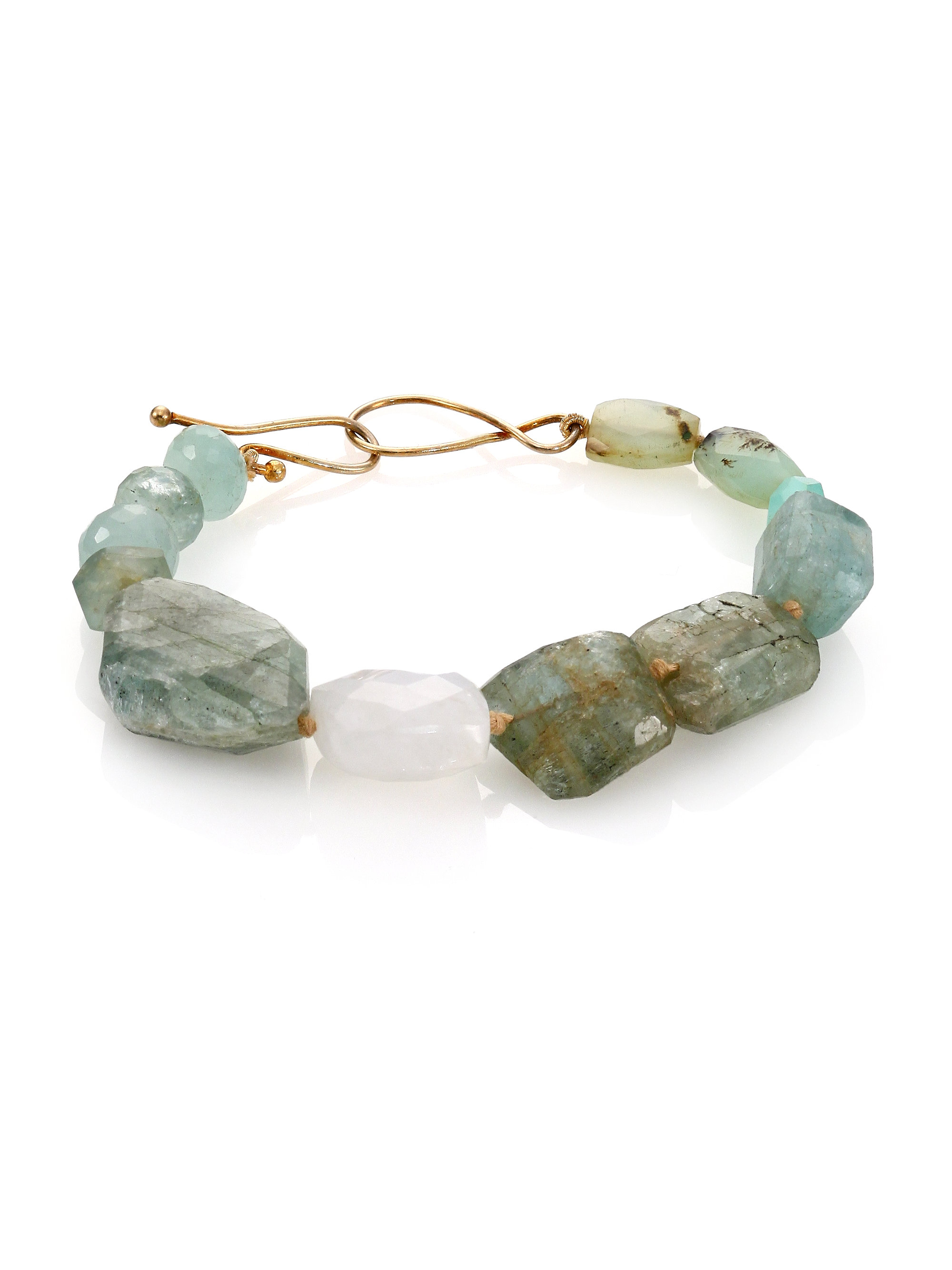 sea glass bracelet aquamarine and by jewelry