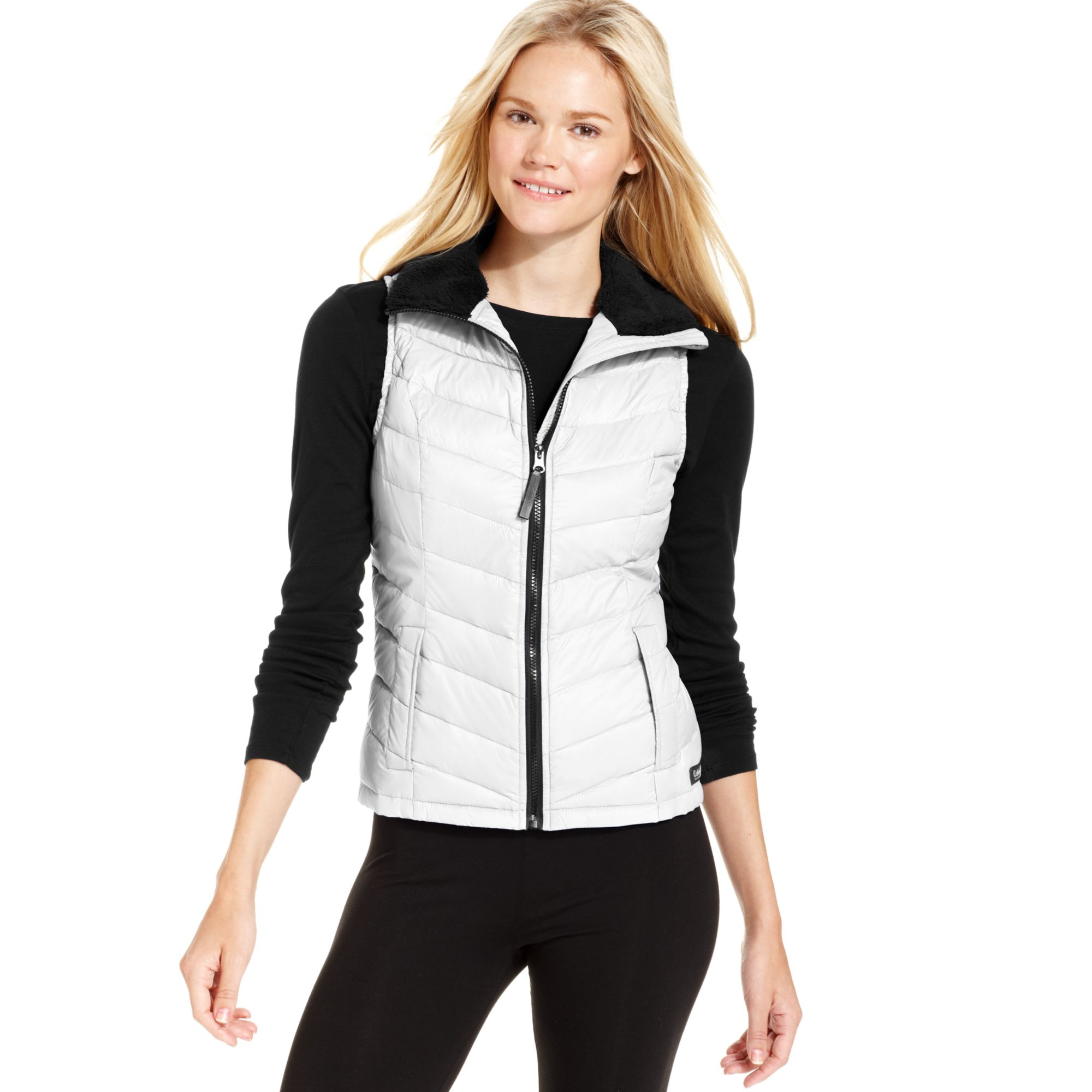 Calvin klein Performance Quilted Puffer Vest in White