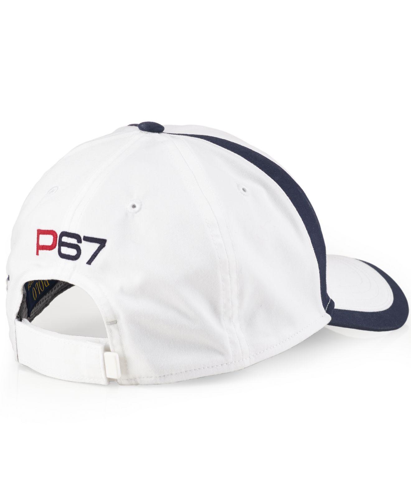 5ddf5e67 ... Polo Ralph Lauren Hats Gloves For Men: Polo Ralph Lauren Nautical Hat  In White For