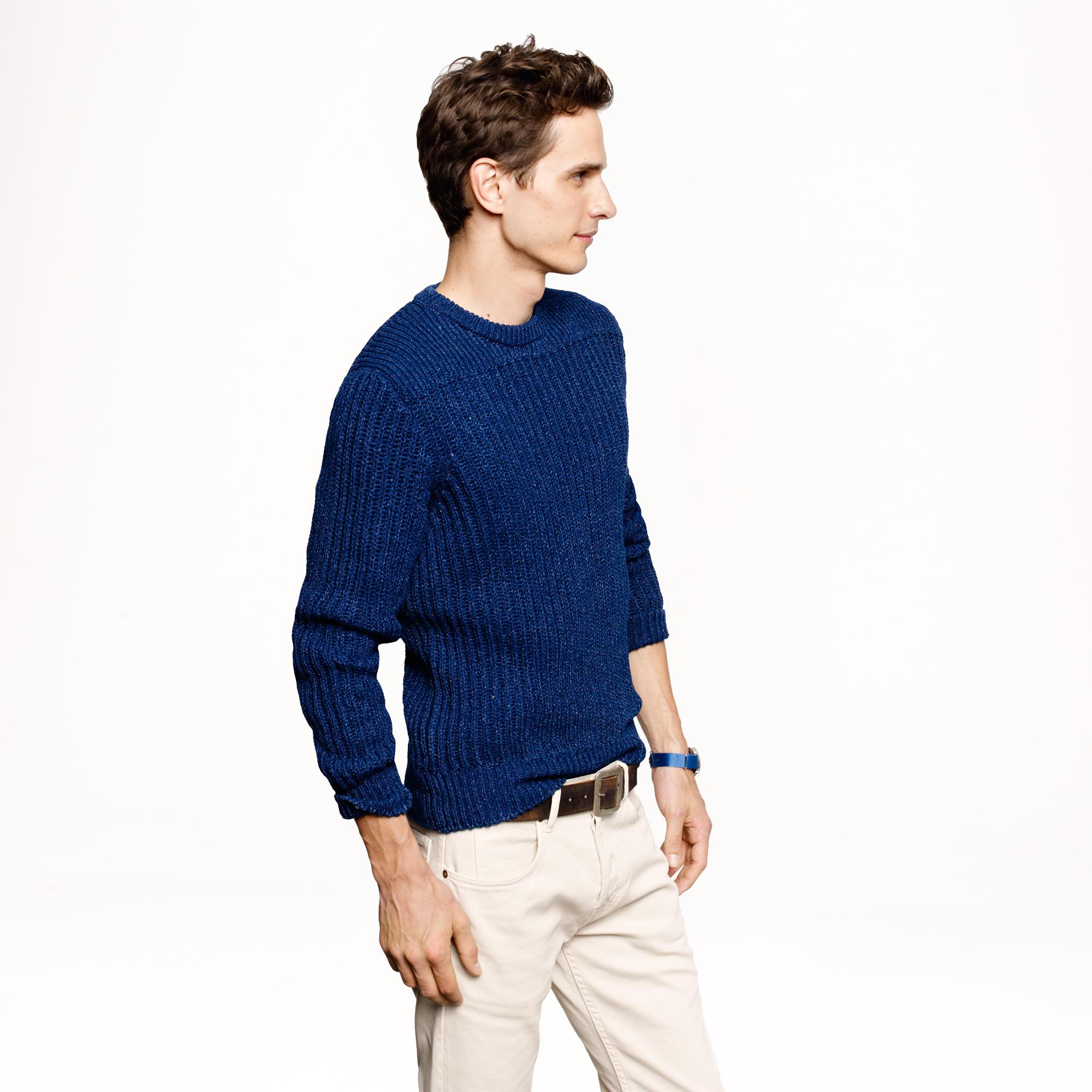 J.crew Wallace & Barnes Indigo Sweater in Blue for Men   Lyst