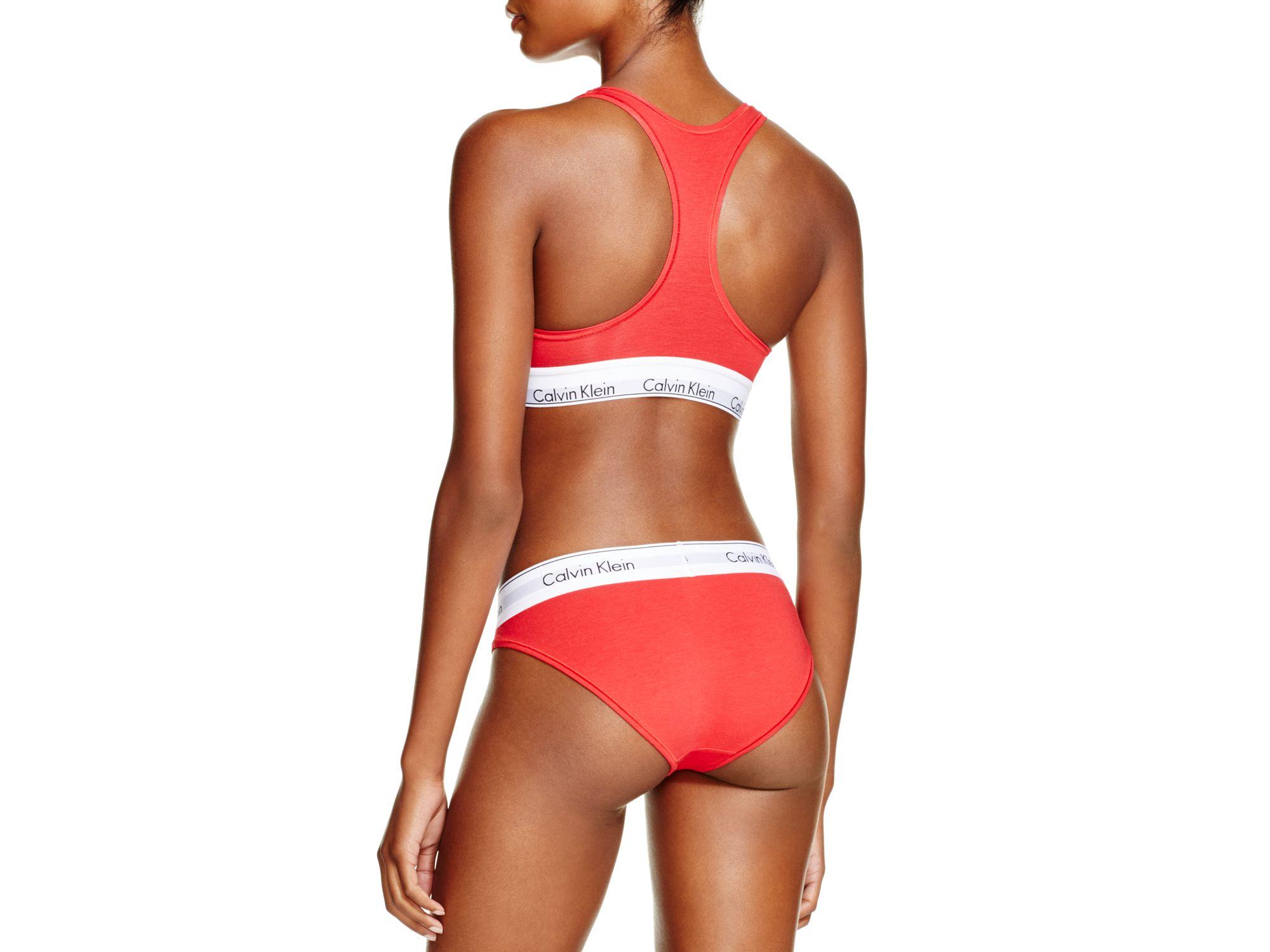 404f59c86b728 Calvin klein Modern Cotton Bralette And Bikini Gift Set  qset001 .