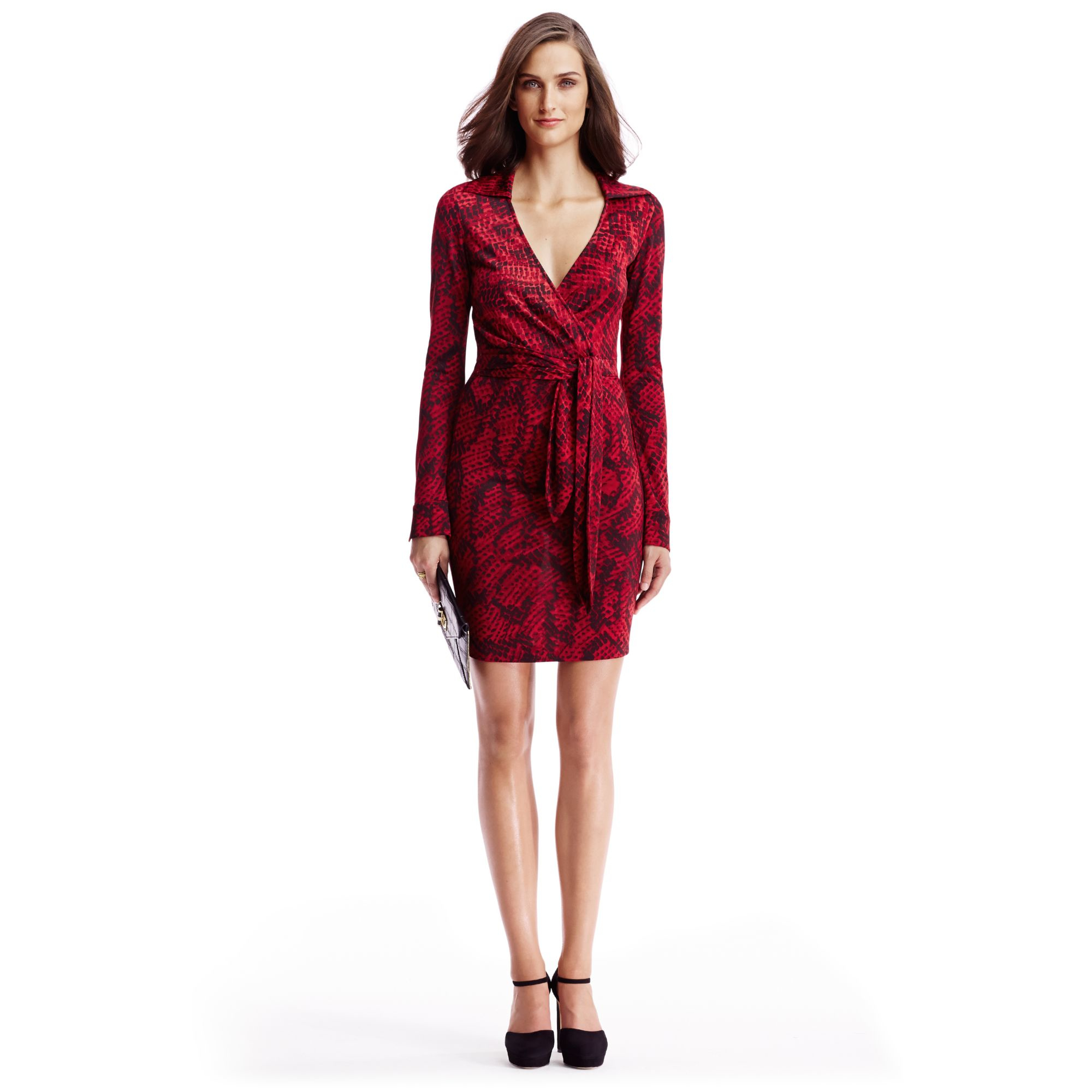 Diane von furstenberg Dvf Savannah Silk Jersey Dress in Red | Lyst