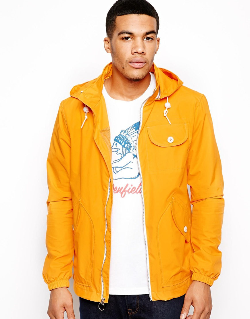 Penfield Rain Jacket in Yellow for Men | Lyst