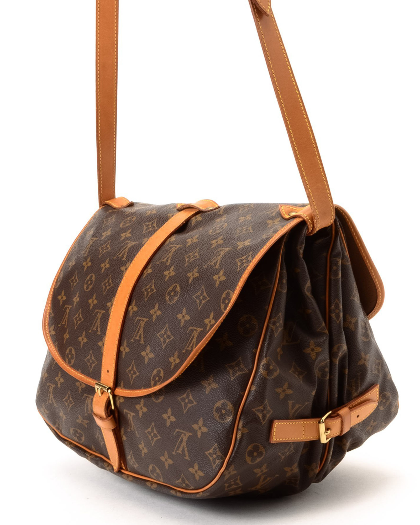 lyst louis vuitton crossbody bag vintage in brown. Black Bedroom Furniture Sets. Home Design Ideas